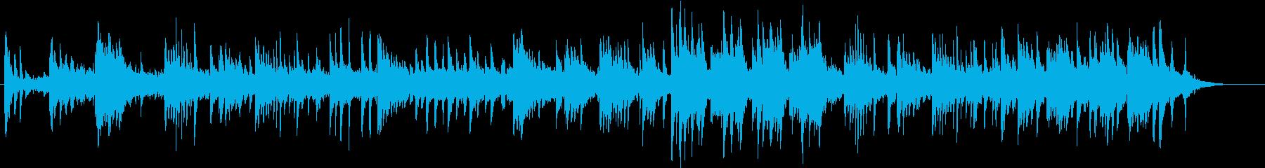 ピアノとシンセのヒーリングミュージックの再生済みの波形
