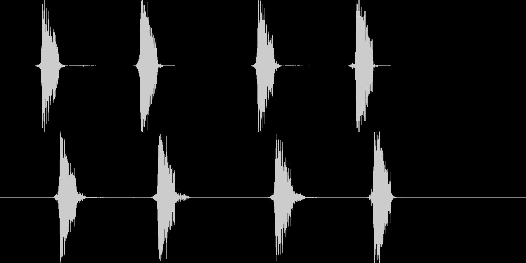 リセット音4(チャプチャ)の未再生の波形