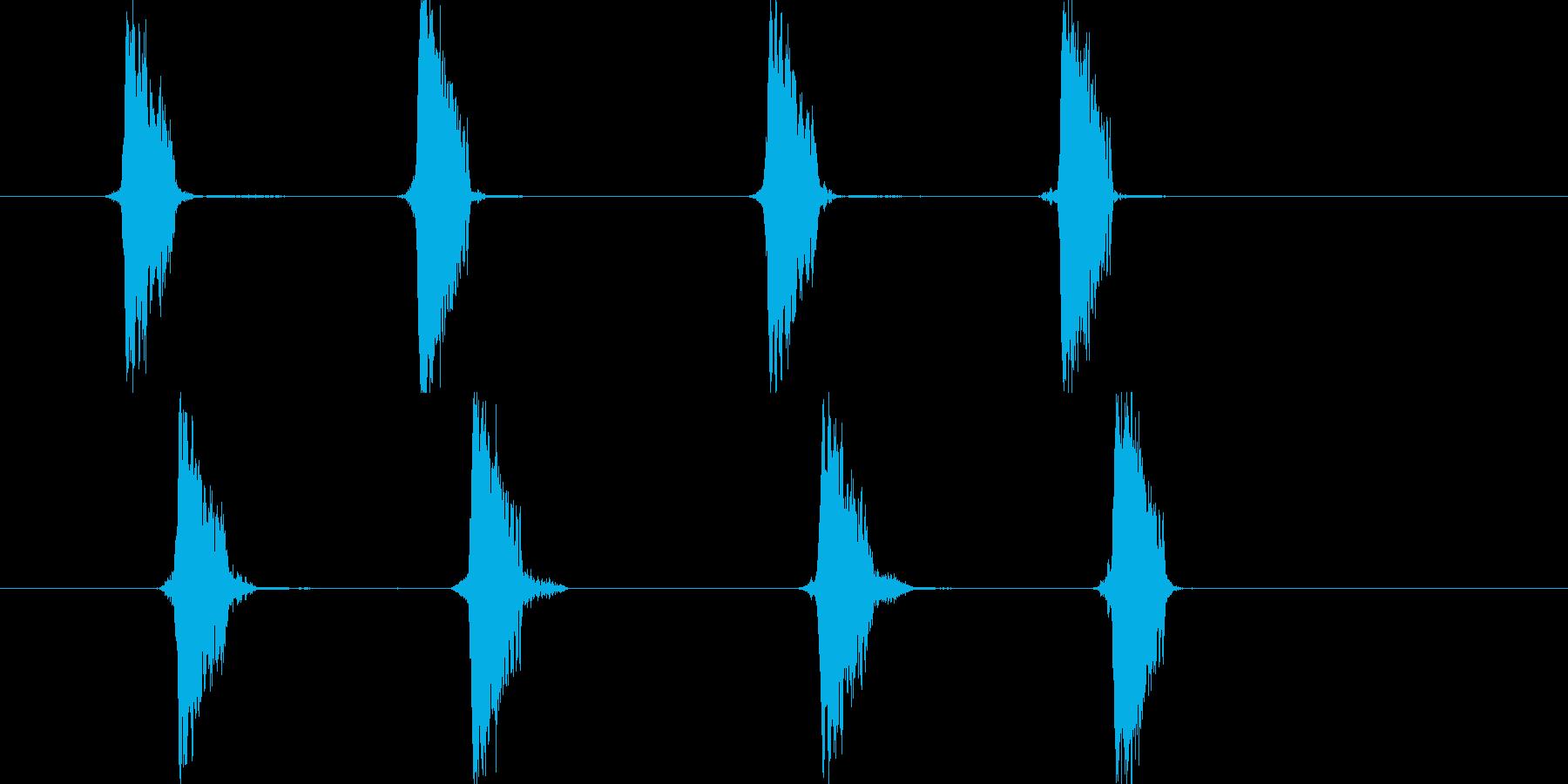 リセット音4(チャプチャ)の再生済みの波形
