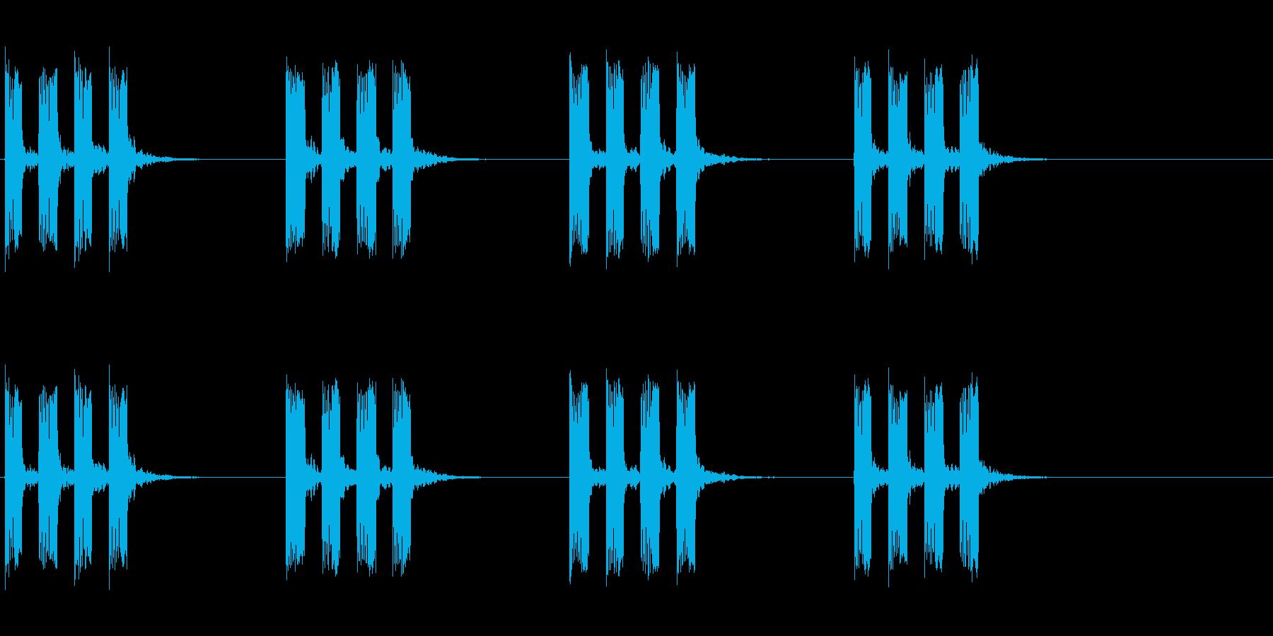 タイマー音01の再生済みの波形