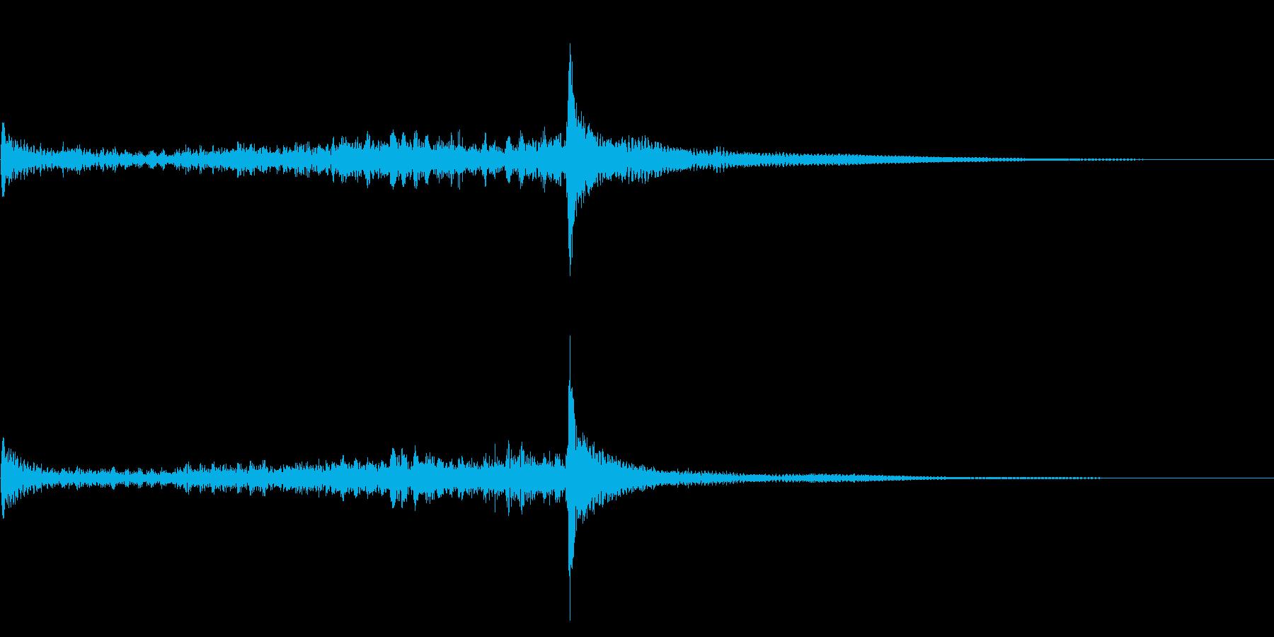 ティンパニーロール☆ミドル1の再生済みの波形