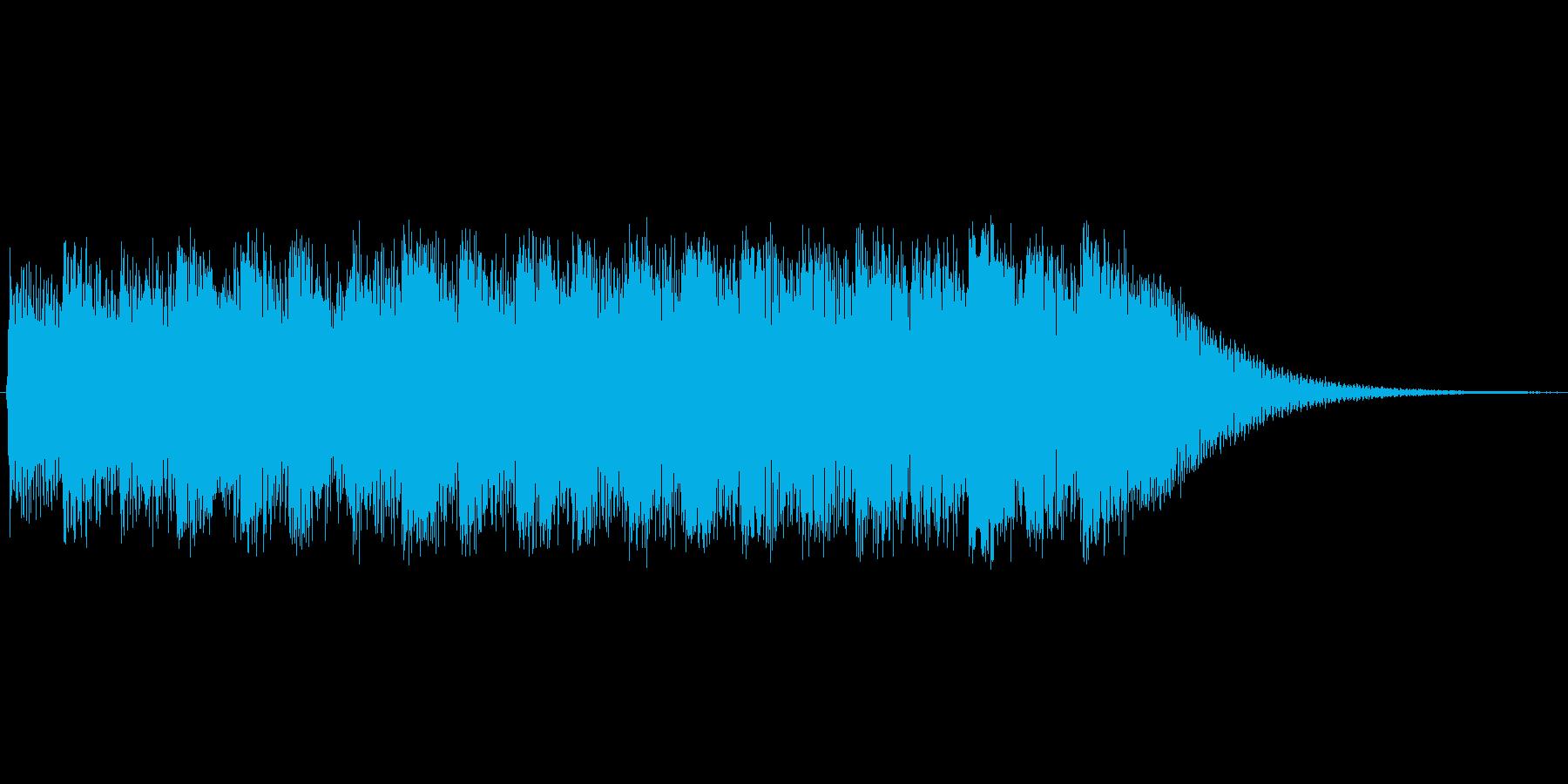 騒々しくて堰建てられイラっとするサウンドの再生済みの波形