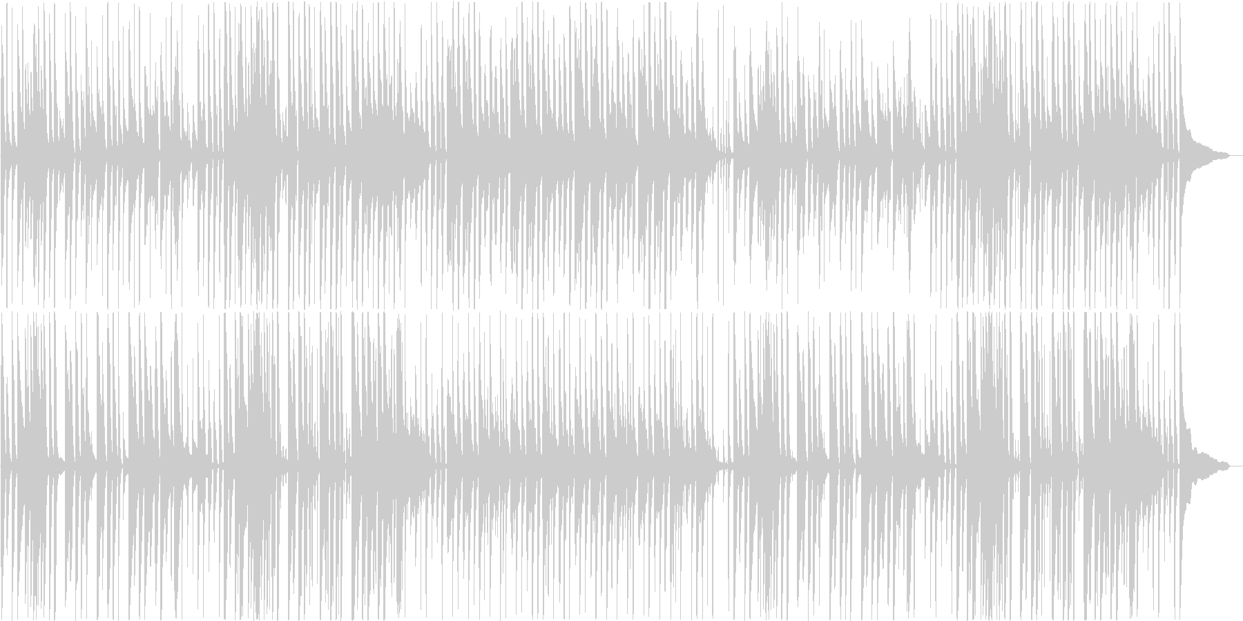 流行りのライトなアコースティックサウンドの未再生の波形