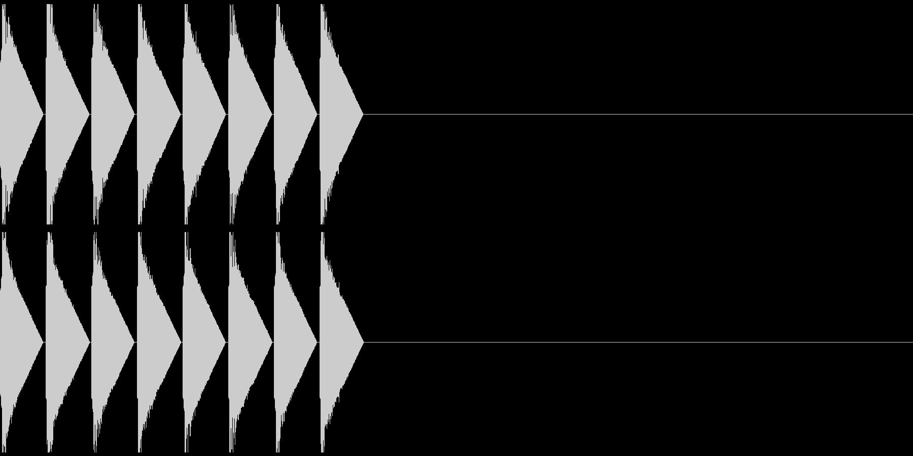 ロボットが歩く時の音の未再生の波形