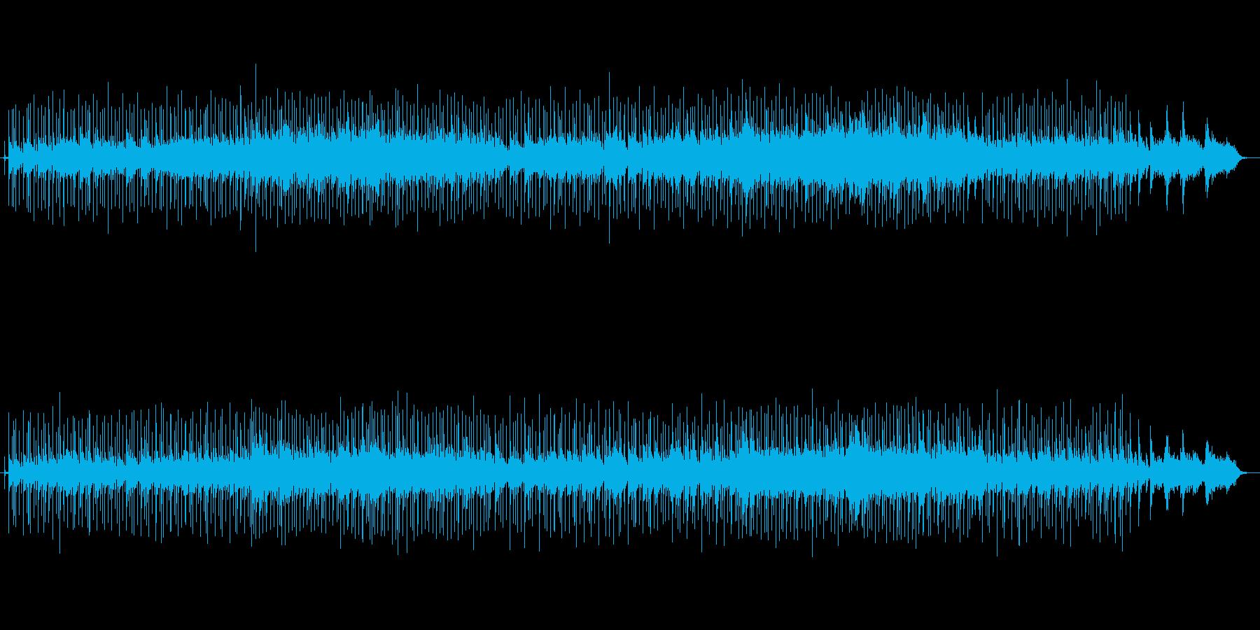 ドラマのエンディングテーマ風の再生済みの波形