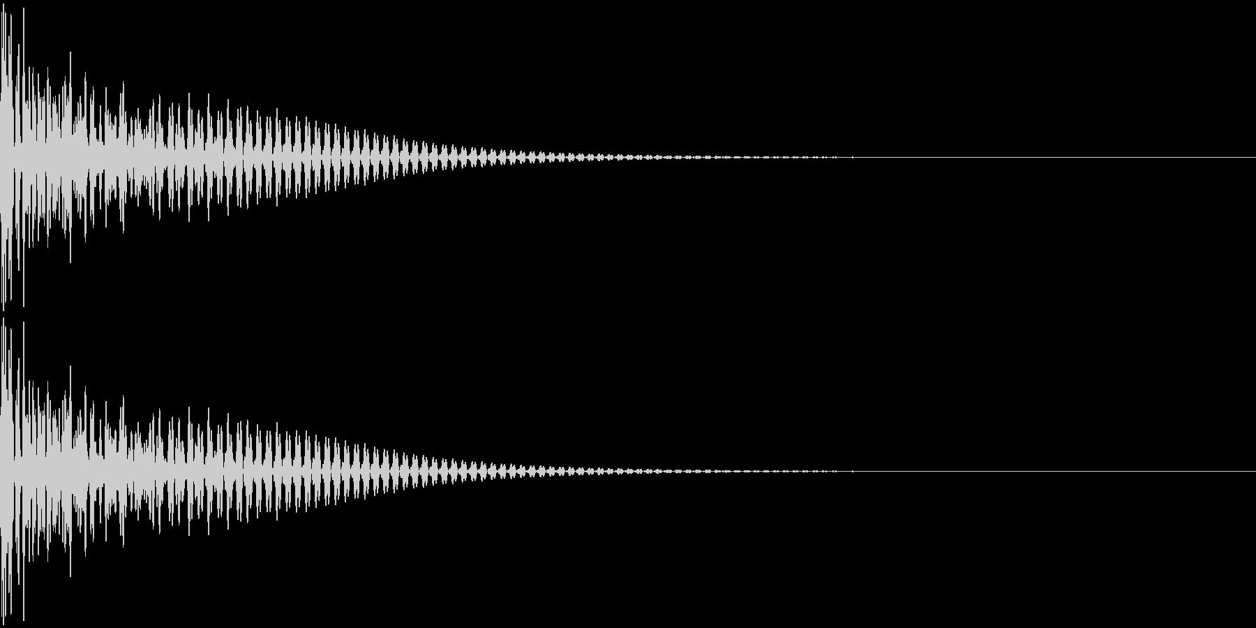 大太鼓 ドンッの未再生の波形