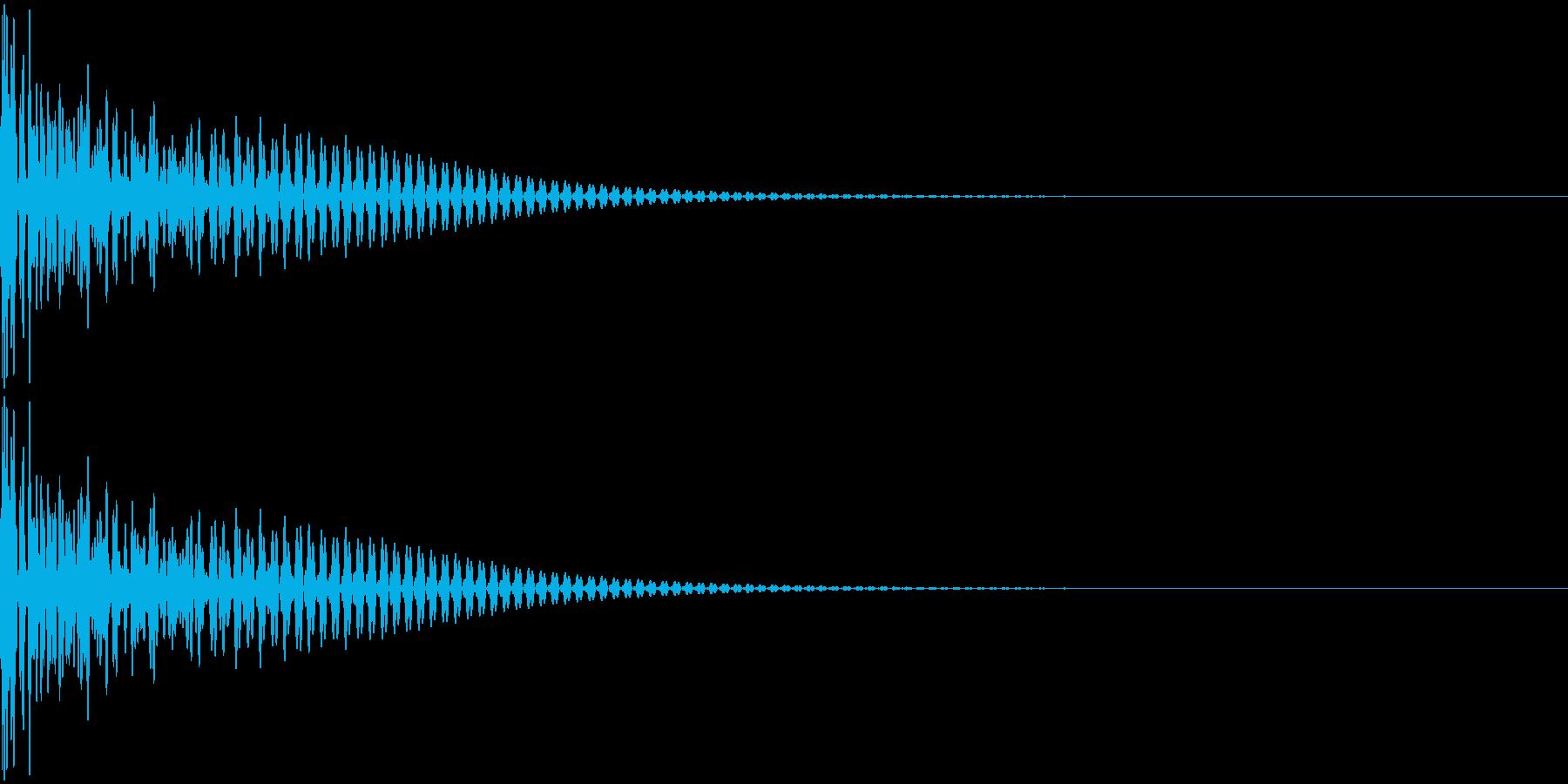 大太鼓 ドンッの再生済みの波形