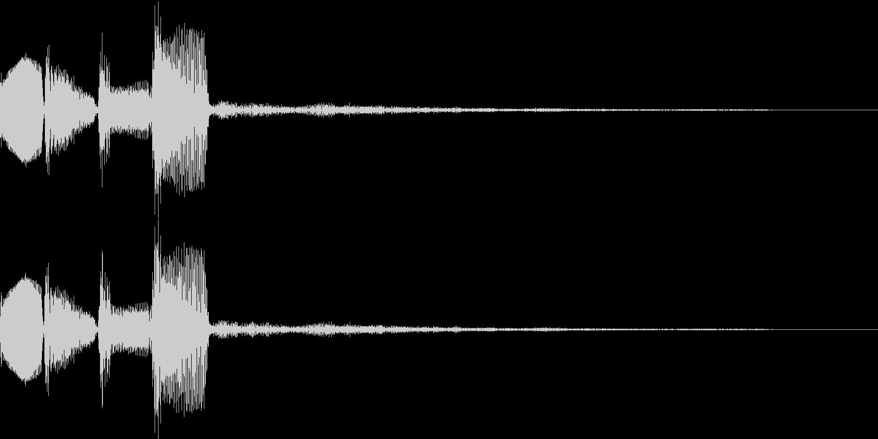 ピロロロ↓(攻撃ミス、やり直し、移動)の未再生の波形