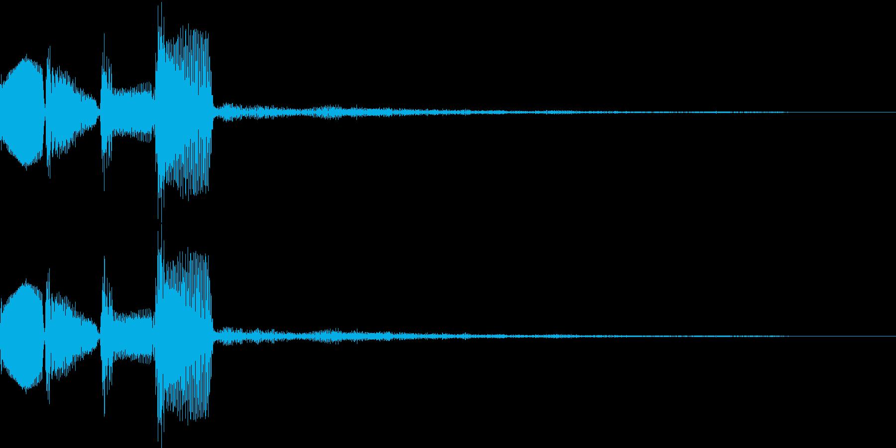 ピロロロ↓(攻撃ミス、やり直し、移動)の再生済みの波形