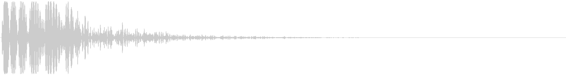 ドゥゥー 映画の予告など(インパクト音)の未再生の波形