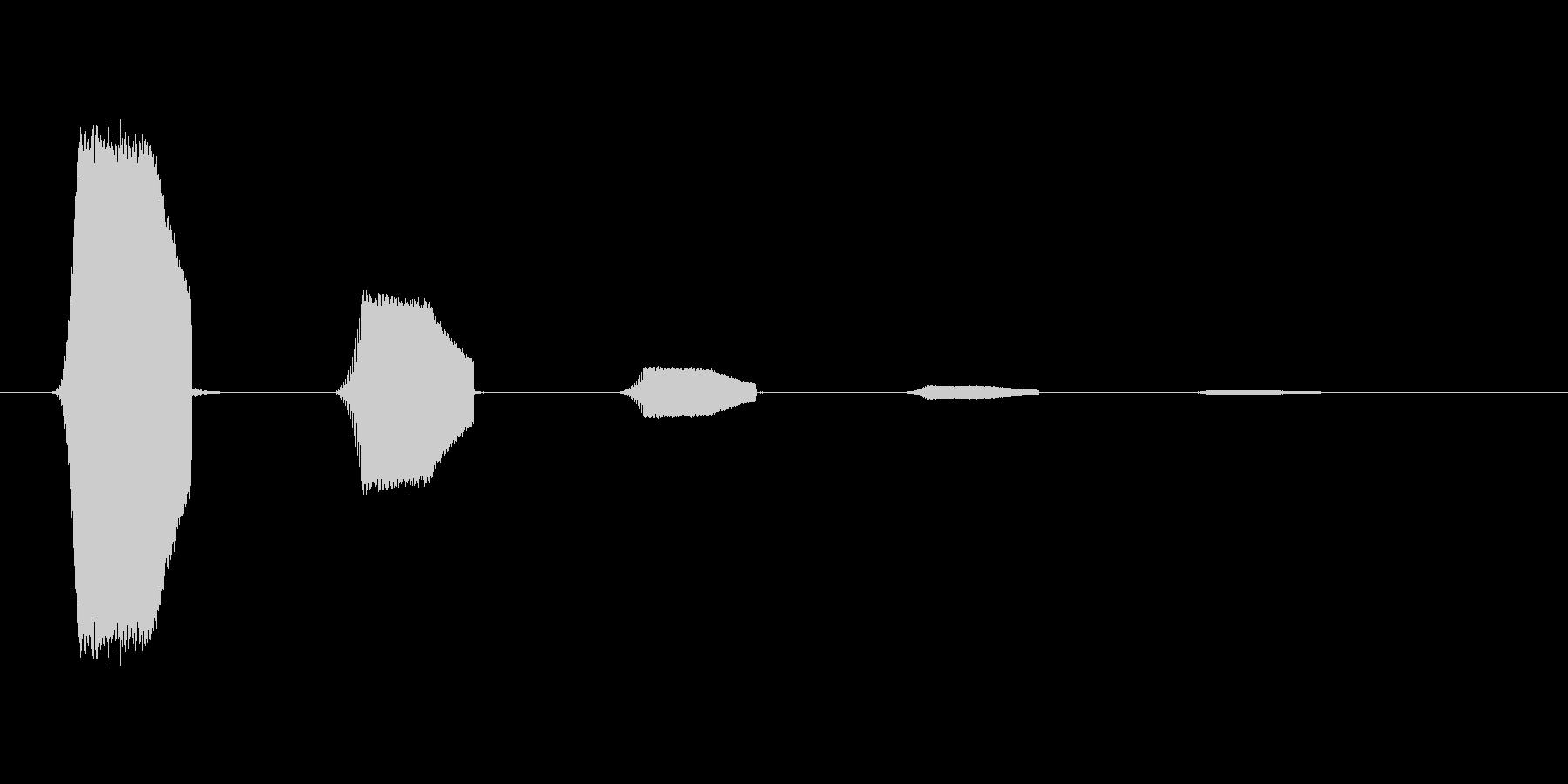 ファミコン風効果音カーソル系です 04の未再生の波形