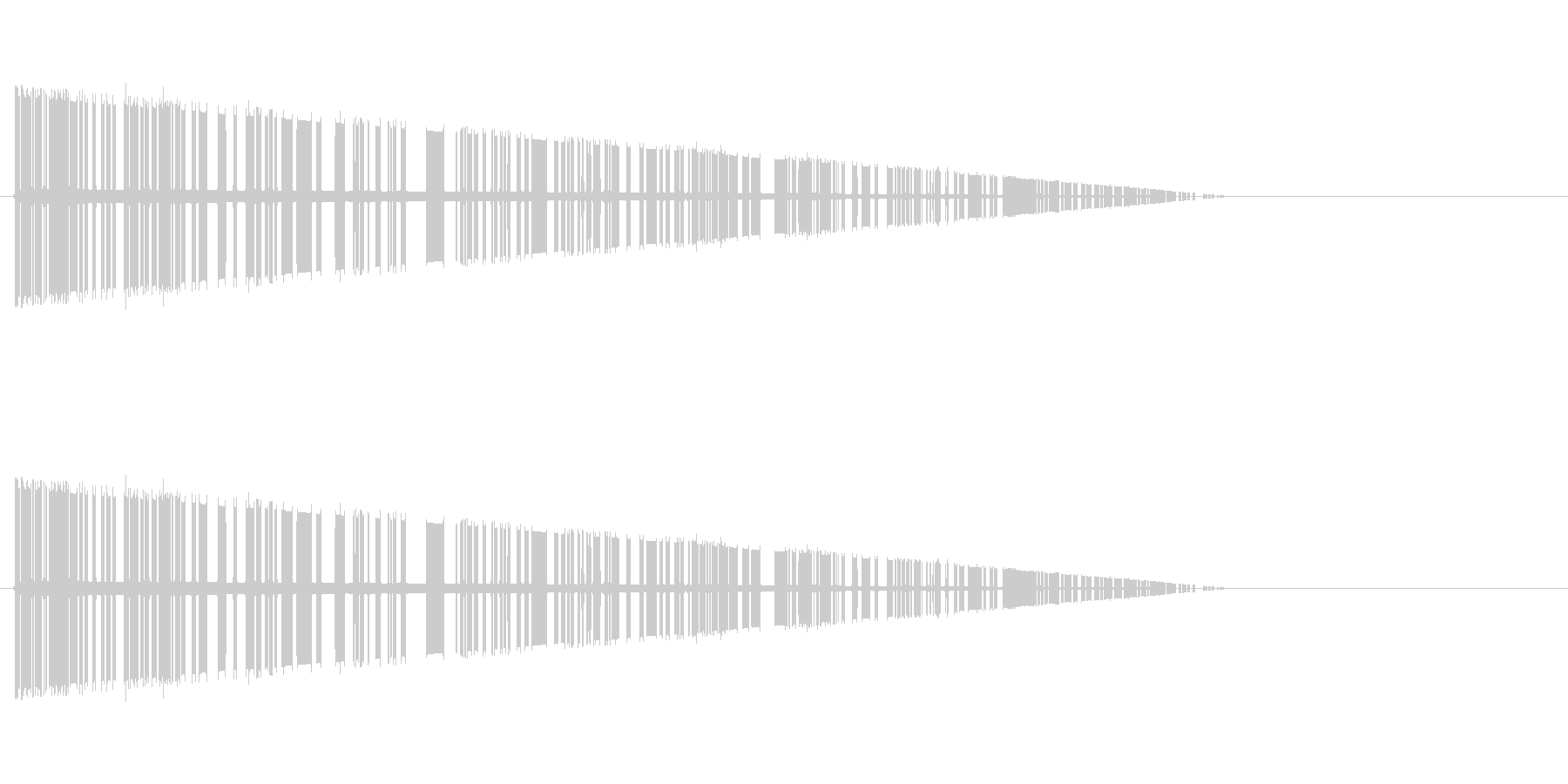 レトロゲーム風爆発音5の未再生の波形