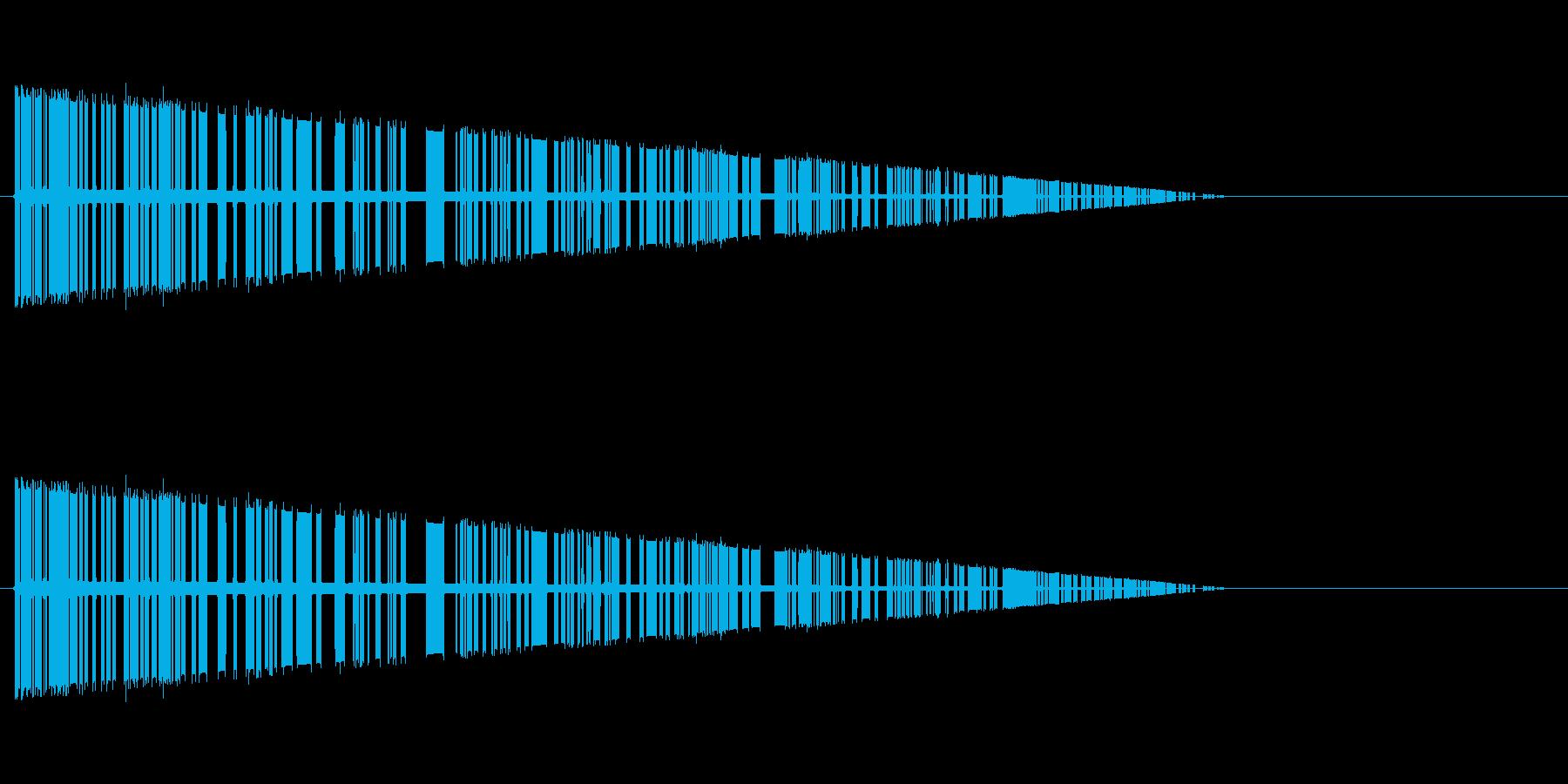 レトロゲーム風爆発音5の再生済みの波形