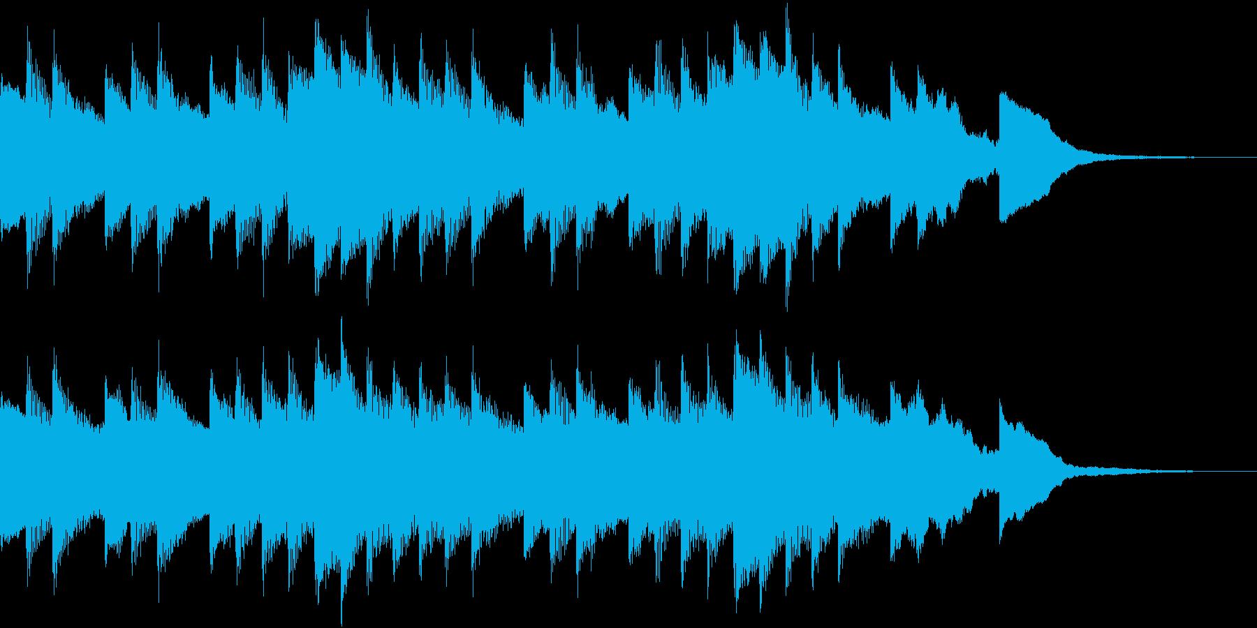雨上がりの朝をイメージしたBGMの再生済みの波形