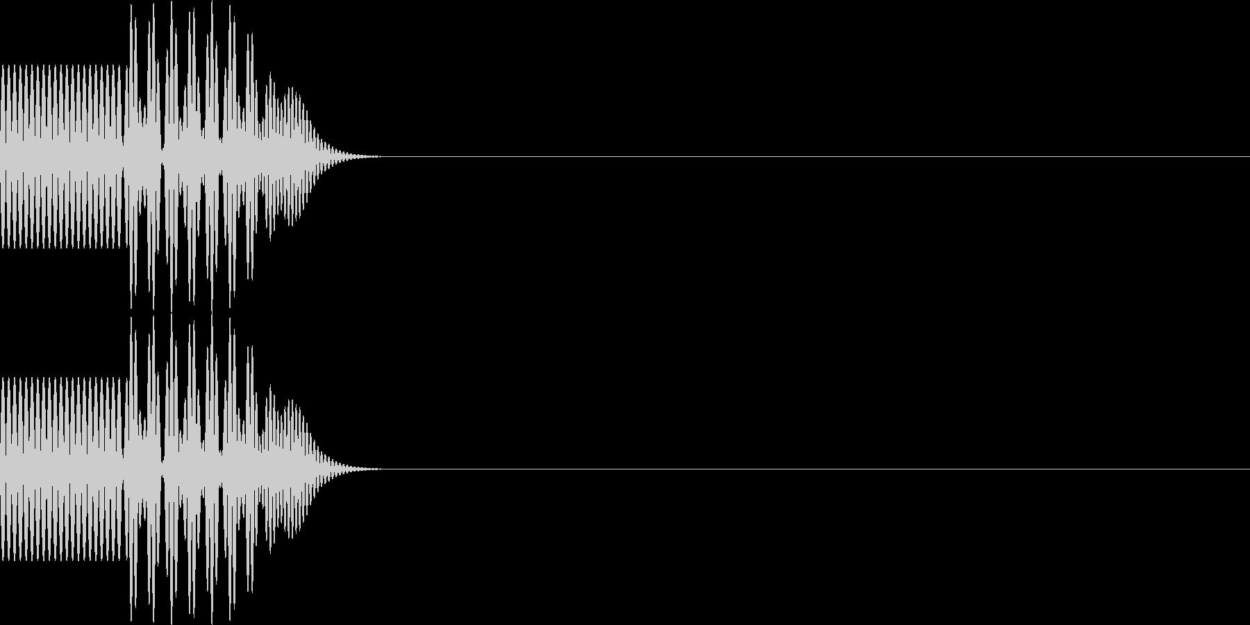 ボタン・操作音2の未再生の波形