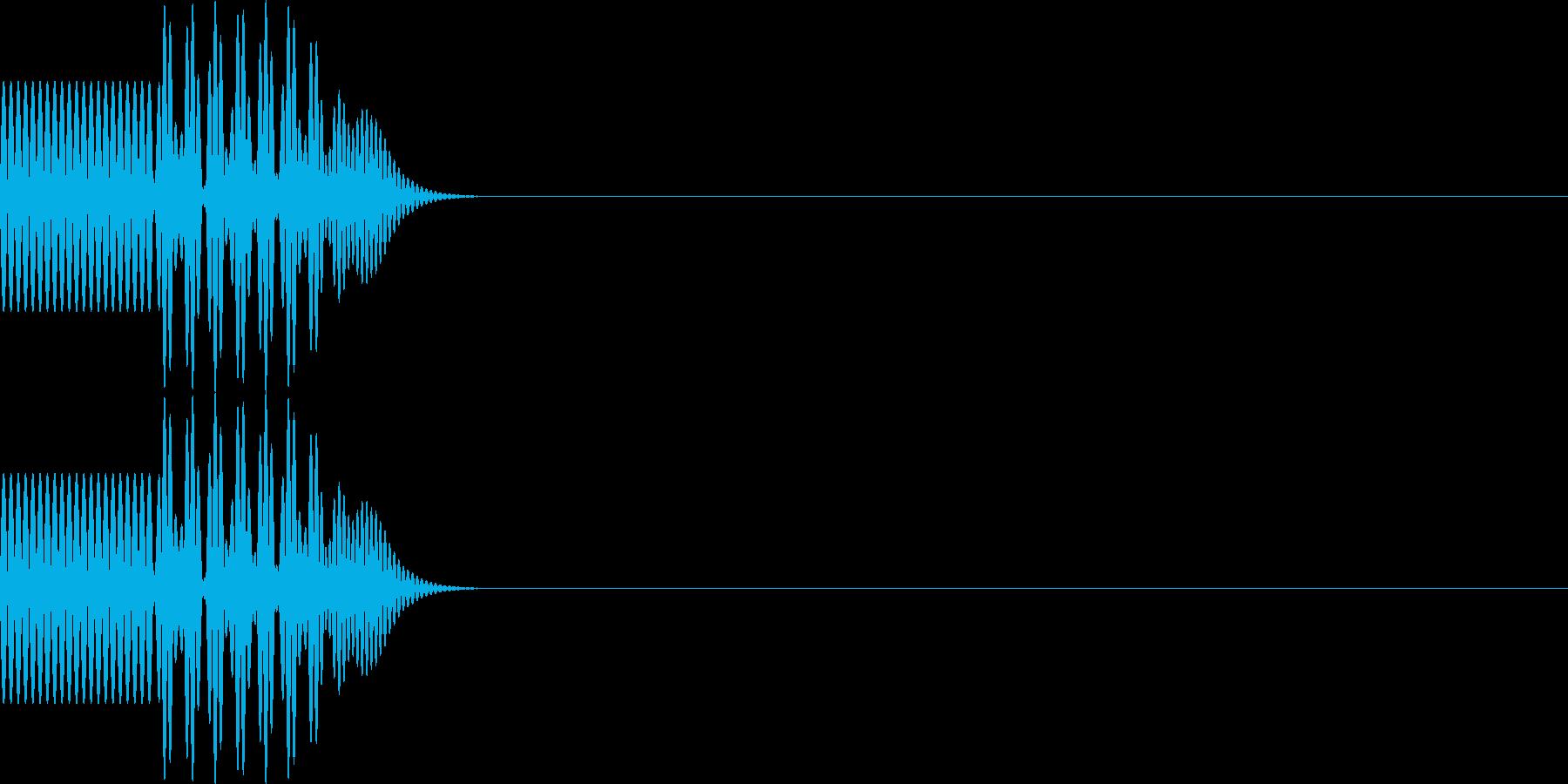 ボタン・操作音2の再生済みの波形