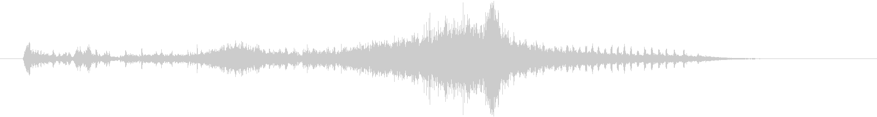 自然の音と電子音が融合したサウンドロゴの未再生の波形