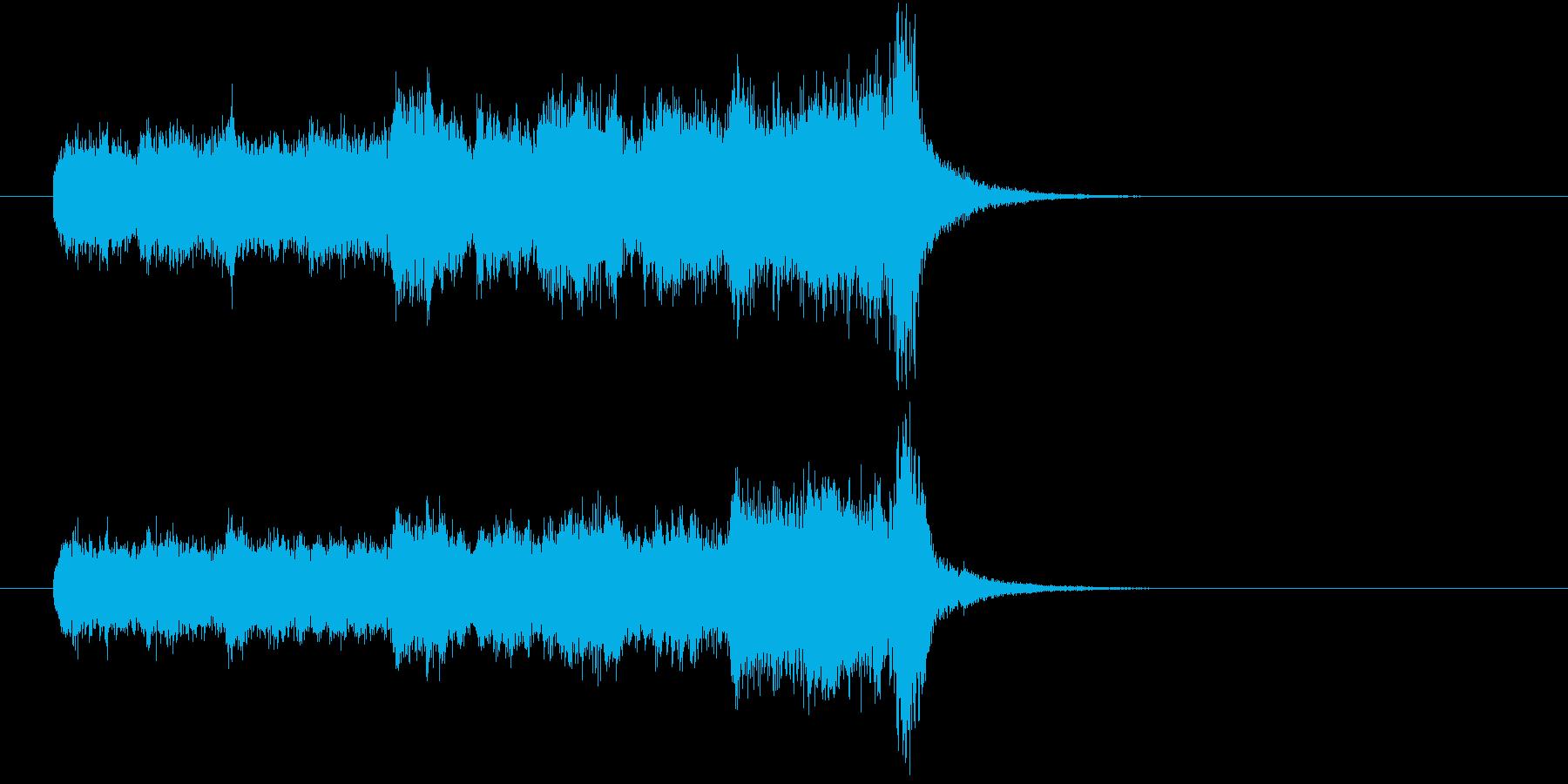 ジングル(おとぎの国風)の再生済みの波形