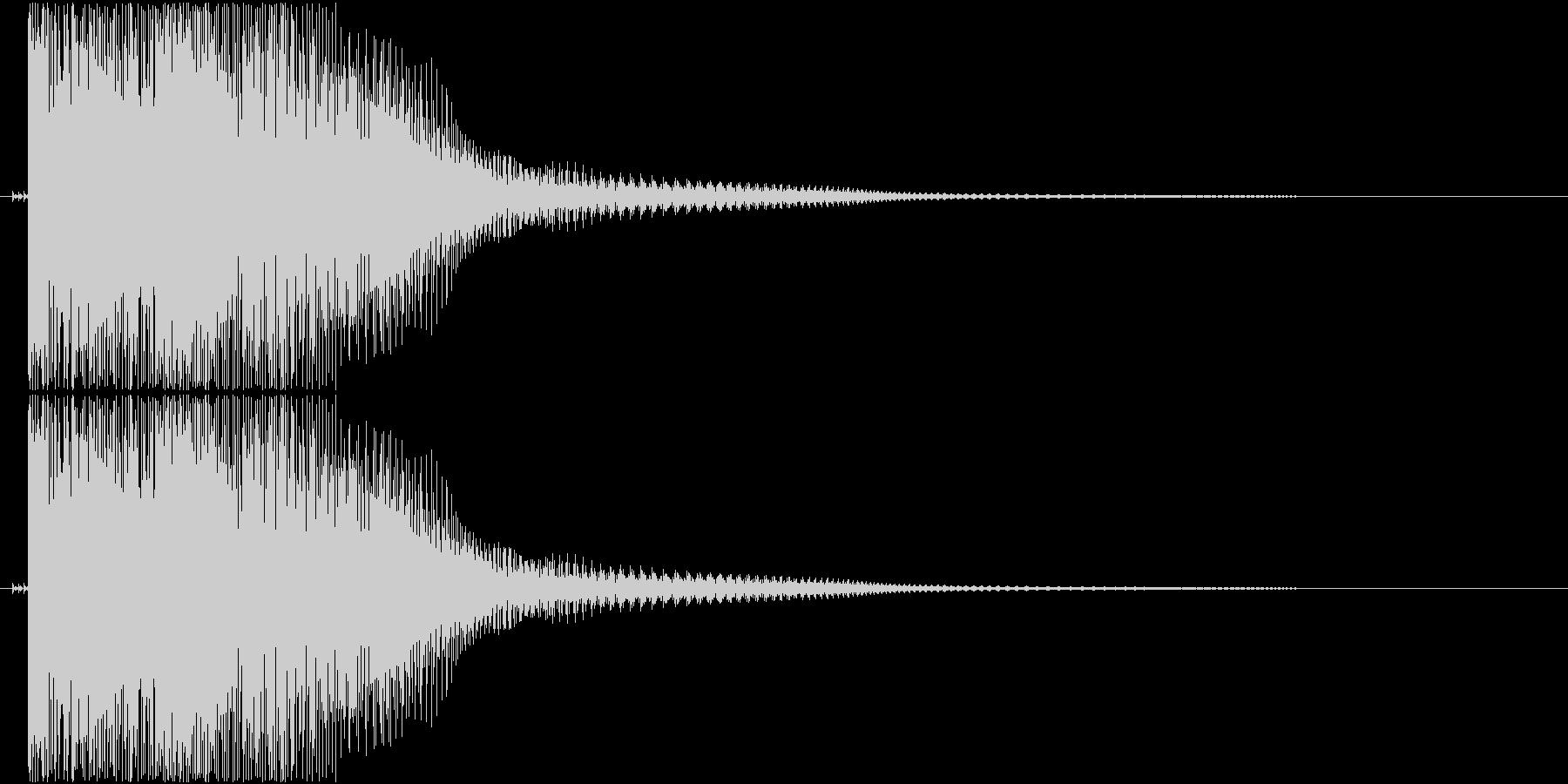 ダメージ音01(ポヨン)の未再生の波形