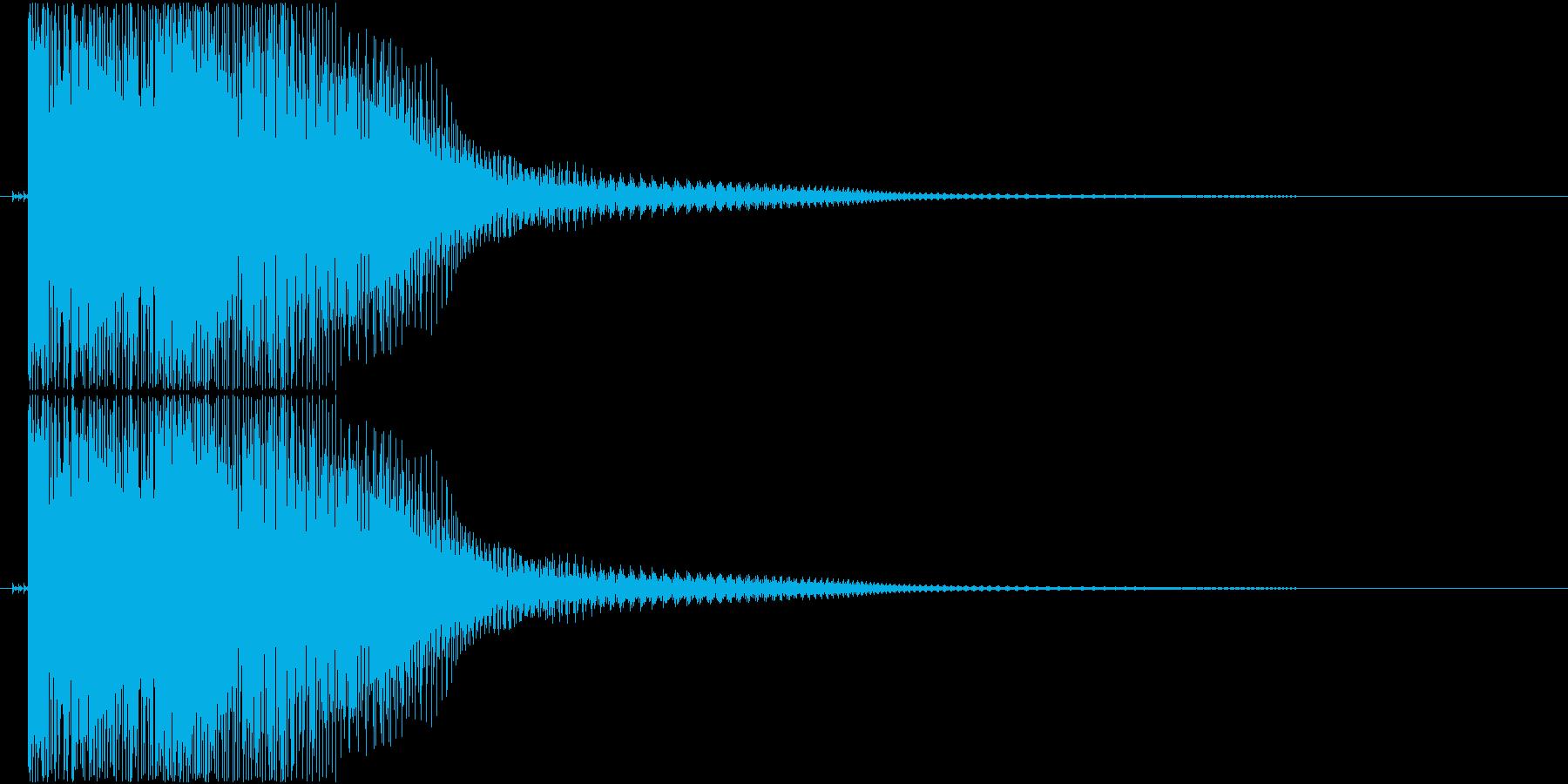 ダメージ音01(ポヨン)の再生済みの波形