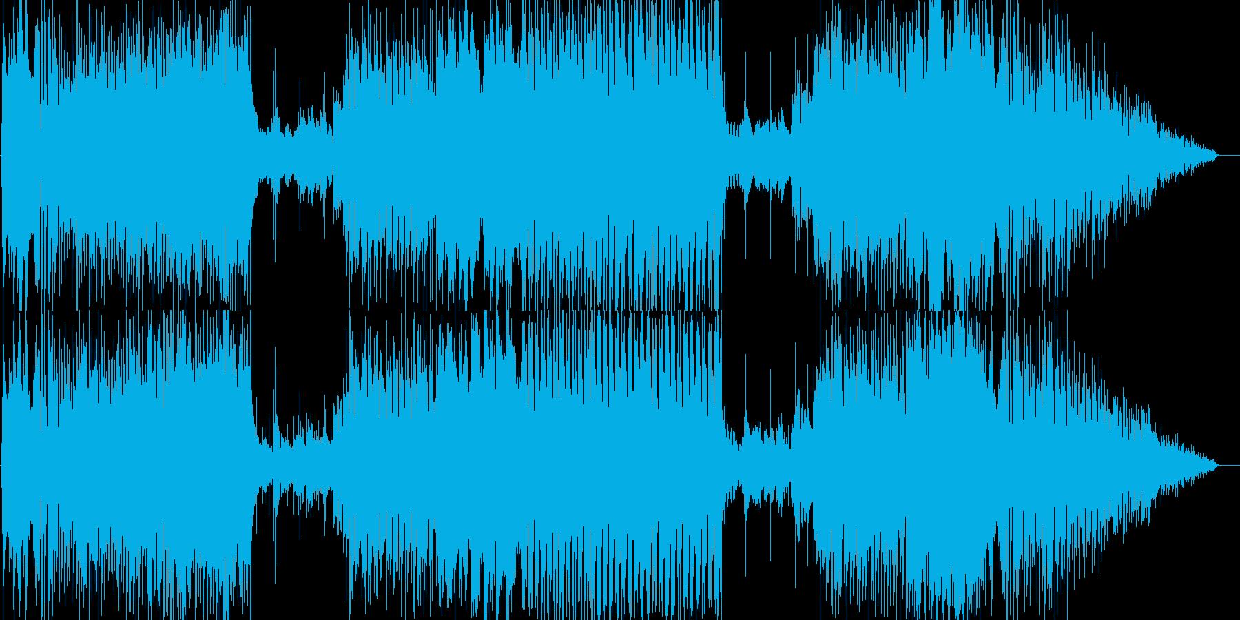 ラテン風爽やかめBGMの再生済みの波形