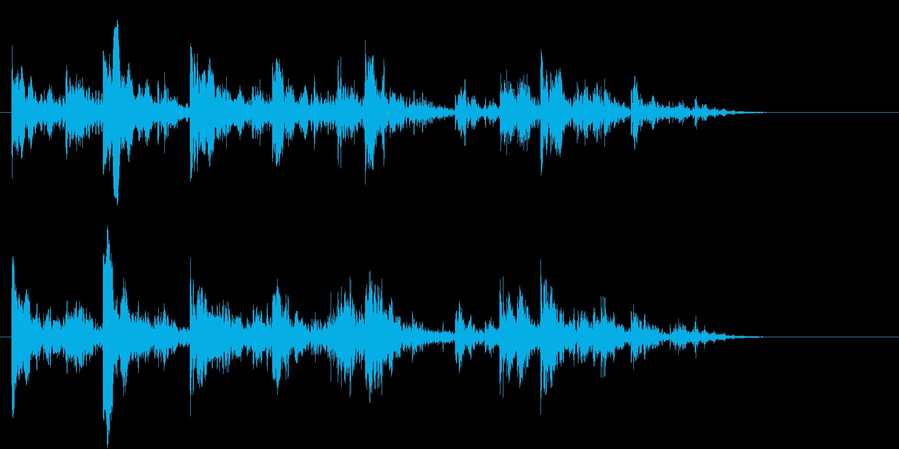 深海、海の中を漂う音 洞窟 コポコポ の再生済みの波形