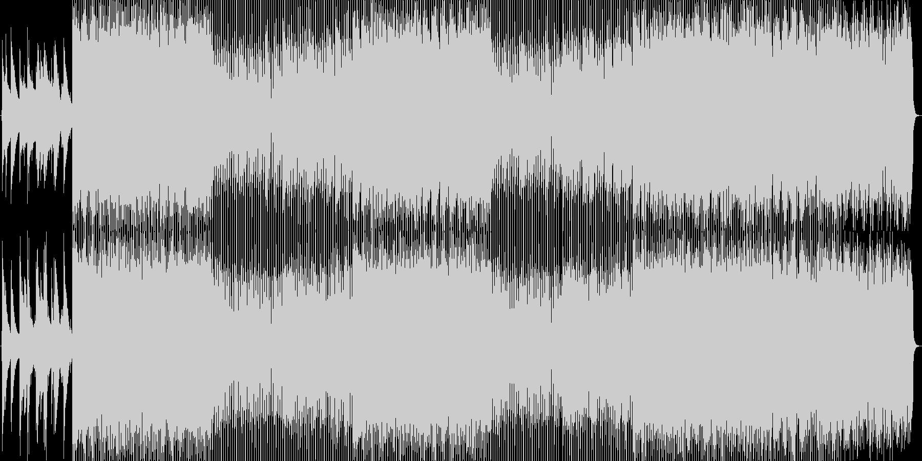 ピアノの旋律とハープのやわらかなBGMの未再生の波形