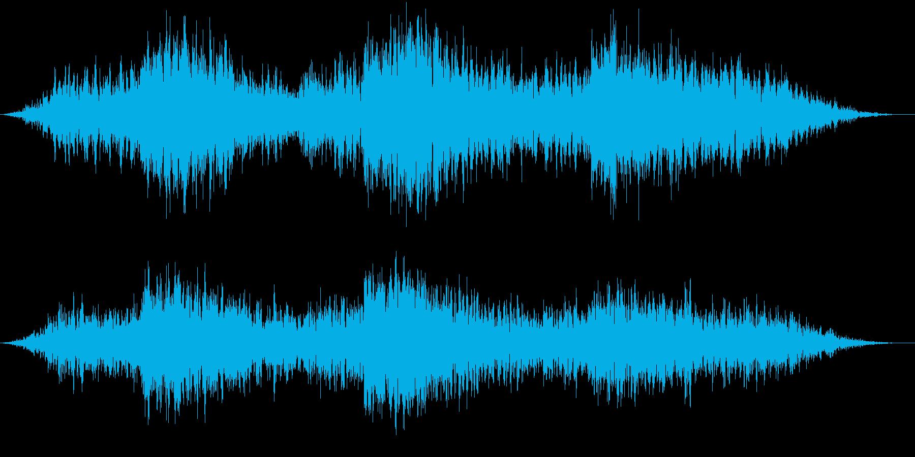 狼の遠吠えの再生済みの波形