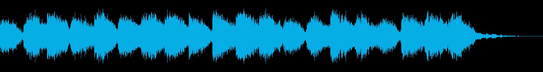 イルカの声と穏やかな海の再生済みの波形