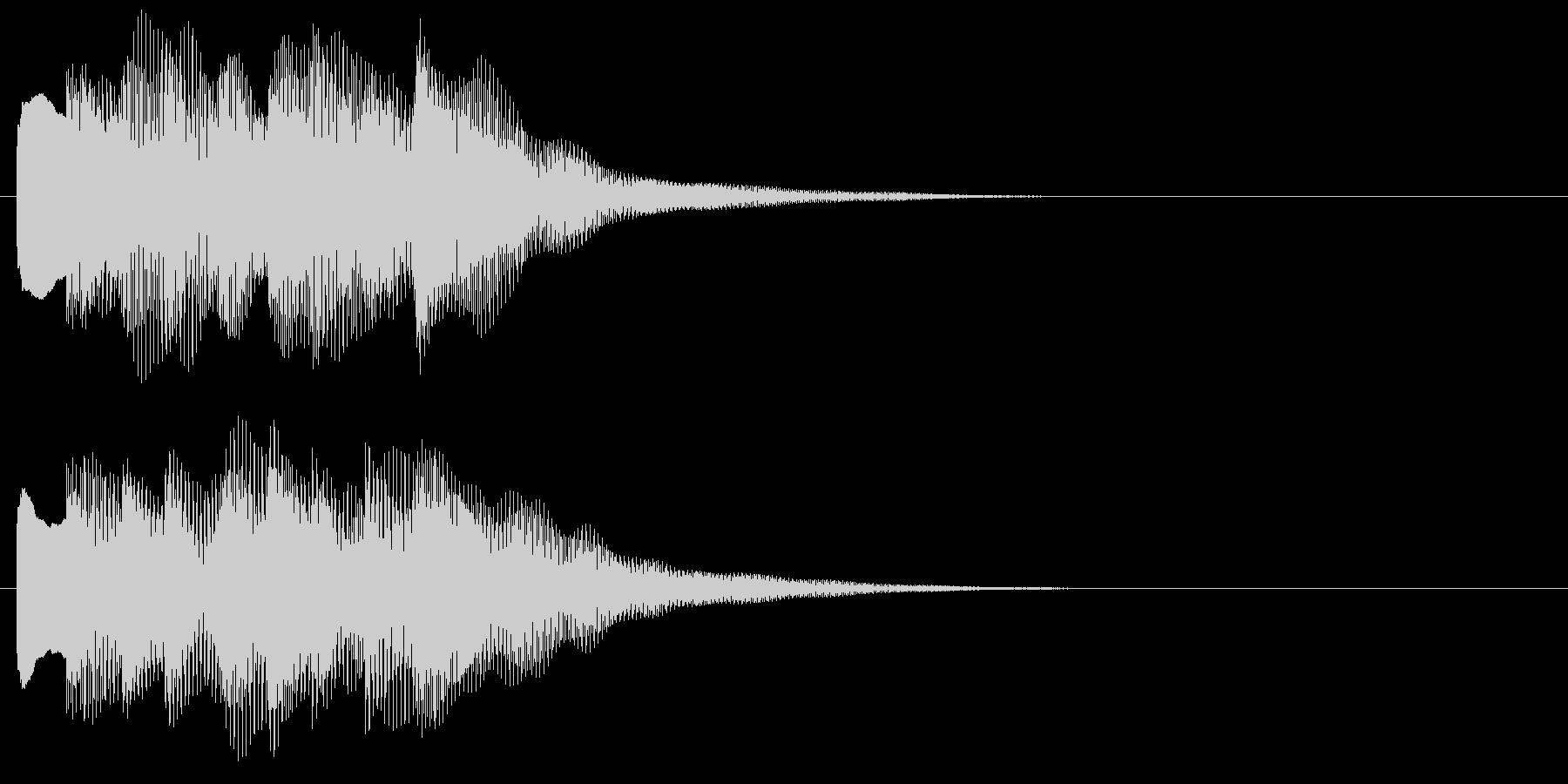 アラーム音10 キラキラ(maj)の未再生の波形