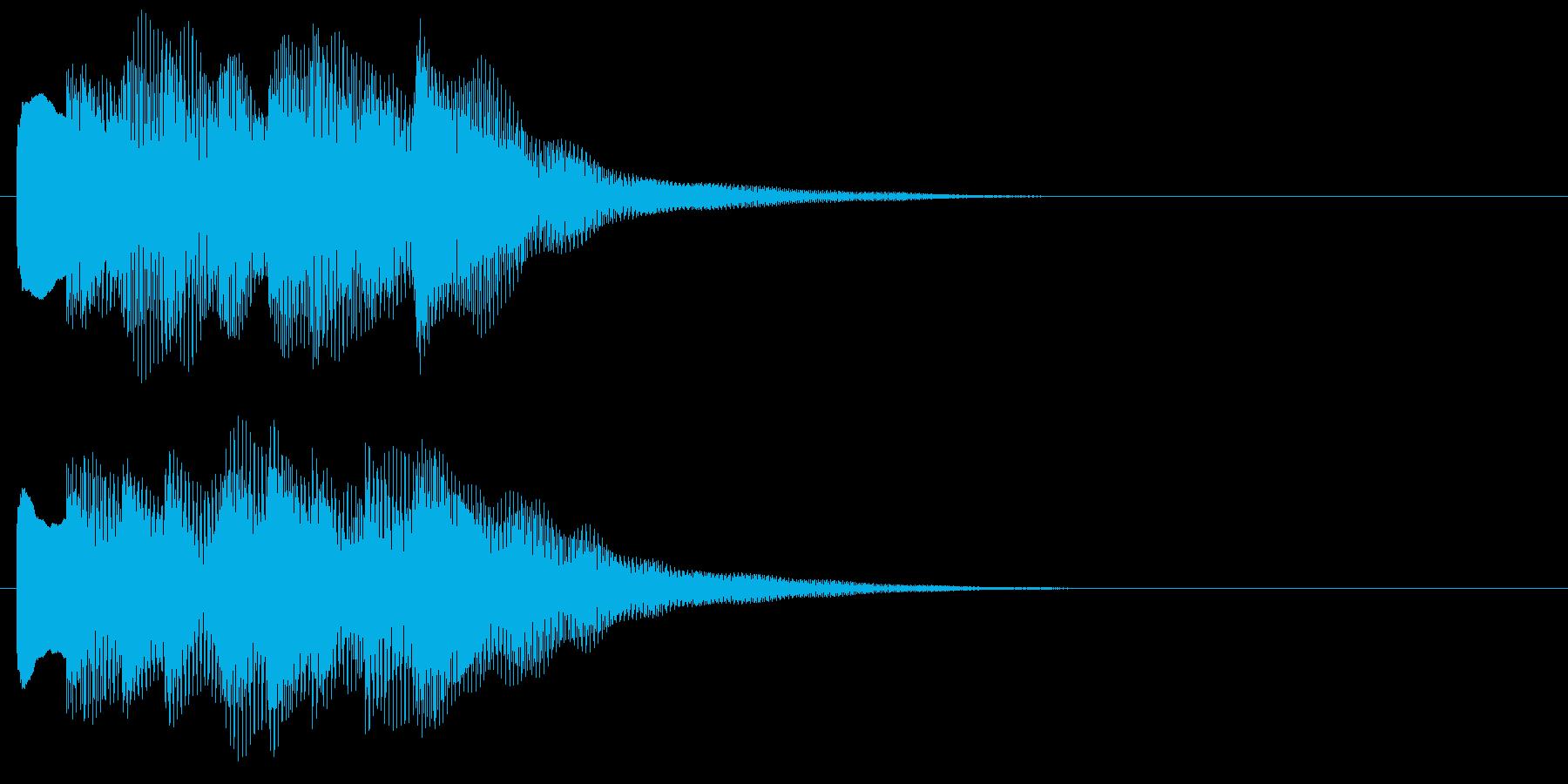 アラーム音10 キラキラ(maj)の再生済みの波形