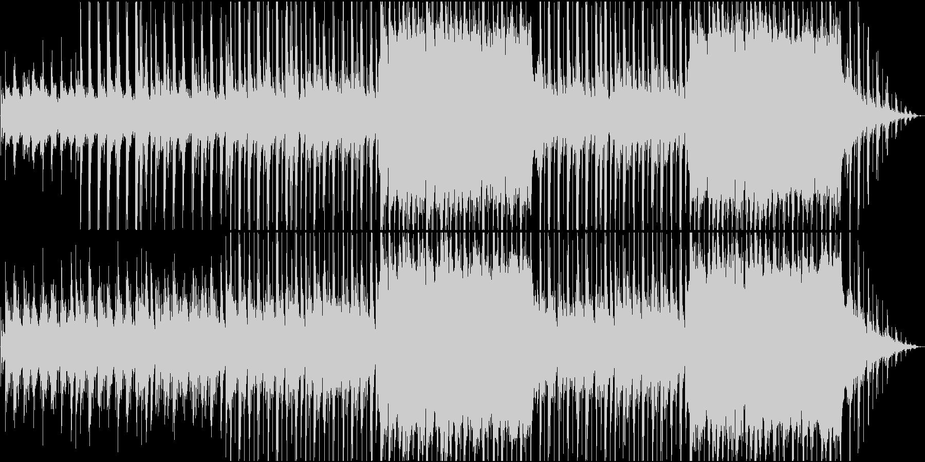 ピアノとバイオリンで奏でる癒し系の曲の未再生の波形