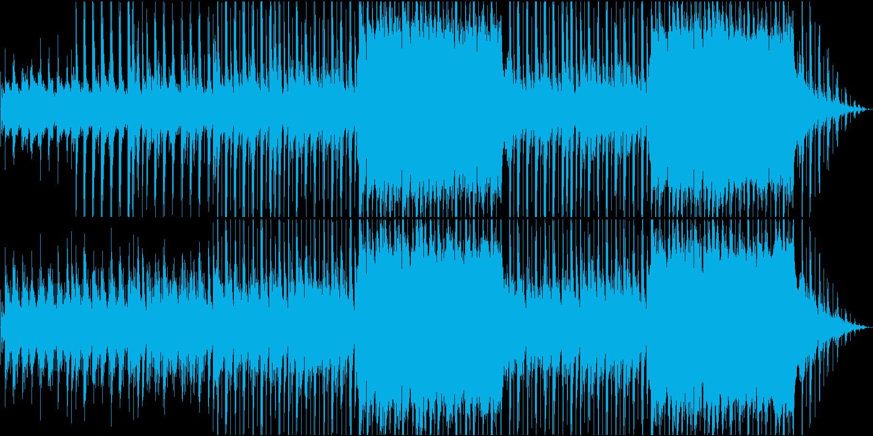 ピアノとバイオリンで奏でる癒し系の曲の再生済みの波形