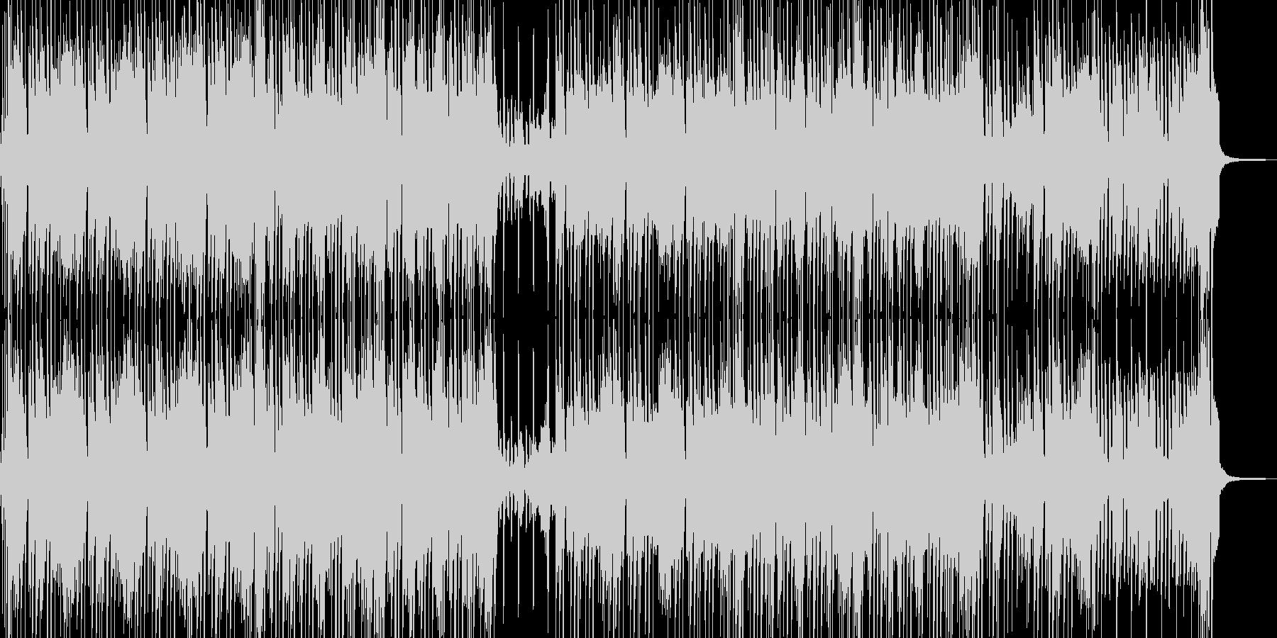 小動物と戯れるイメージのポップスの未再生の波形