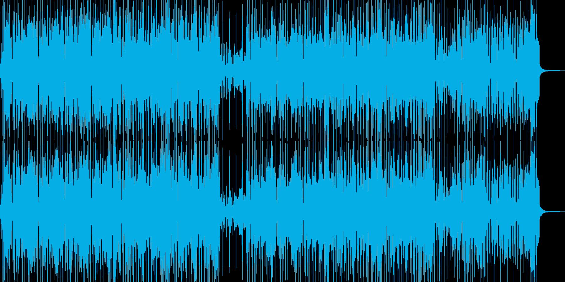 小動物と戯れるイメージのポップスの再生済みの波形