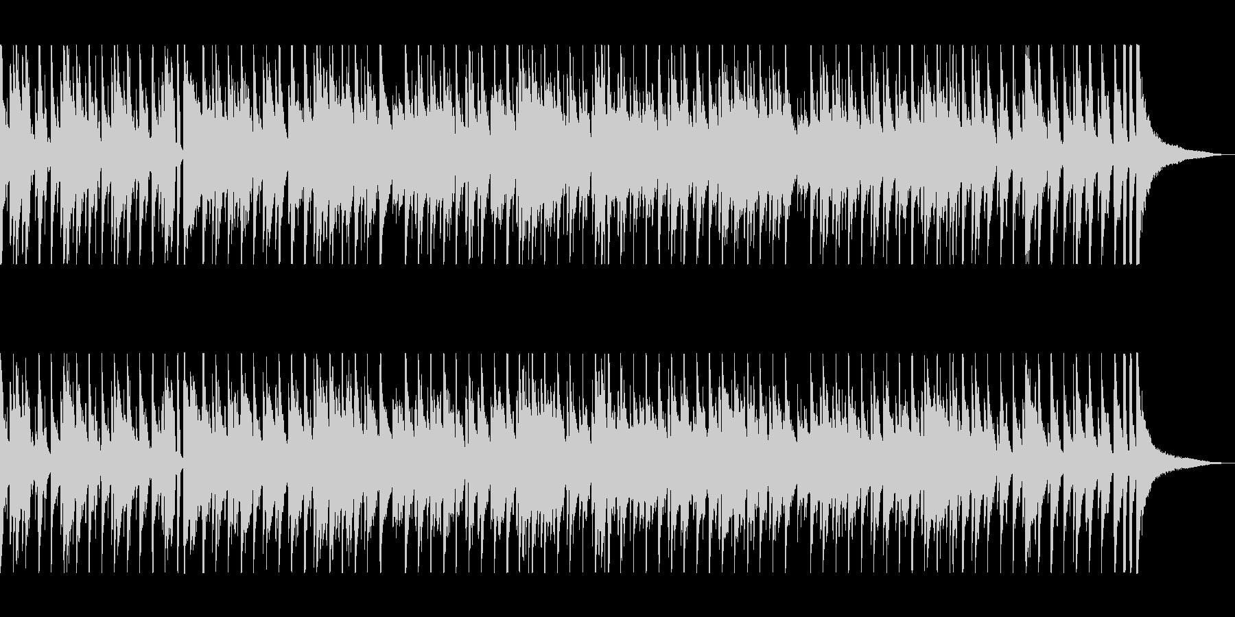 軽快でピアノとドラムが印象的なボサノバの未再生の波形