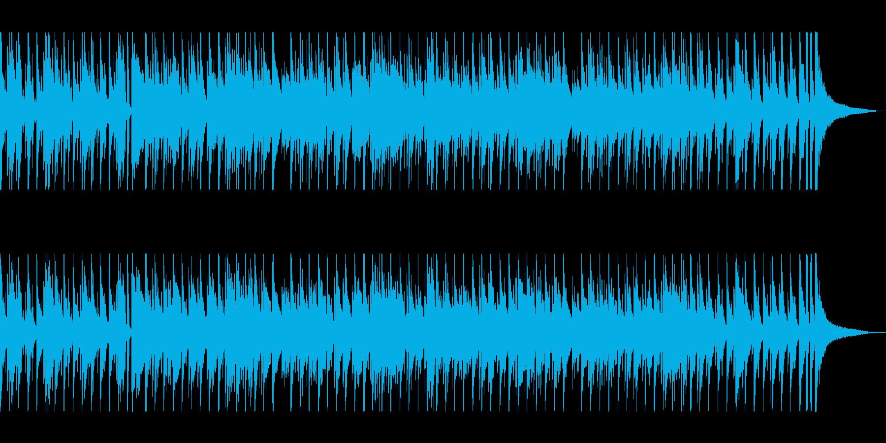 軽快でピアノとドラムが印象的なボサノバの再生済みの波形
