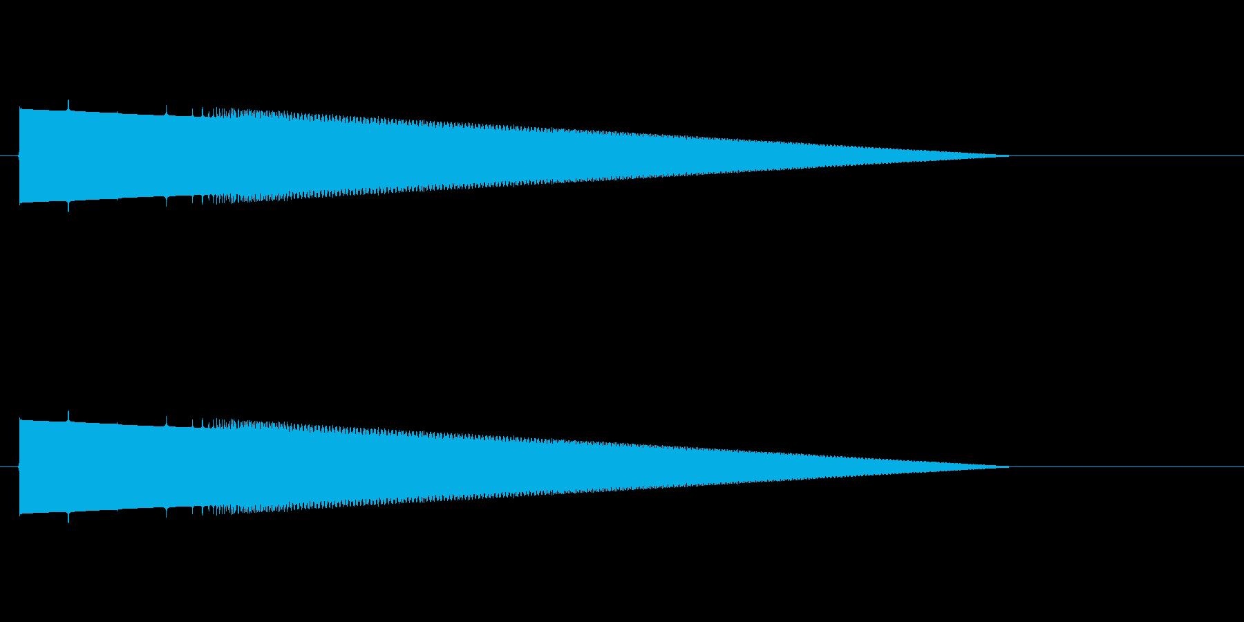 レトロゲーム風ヒット音1の再生済みの波形