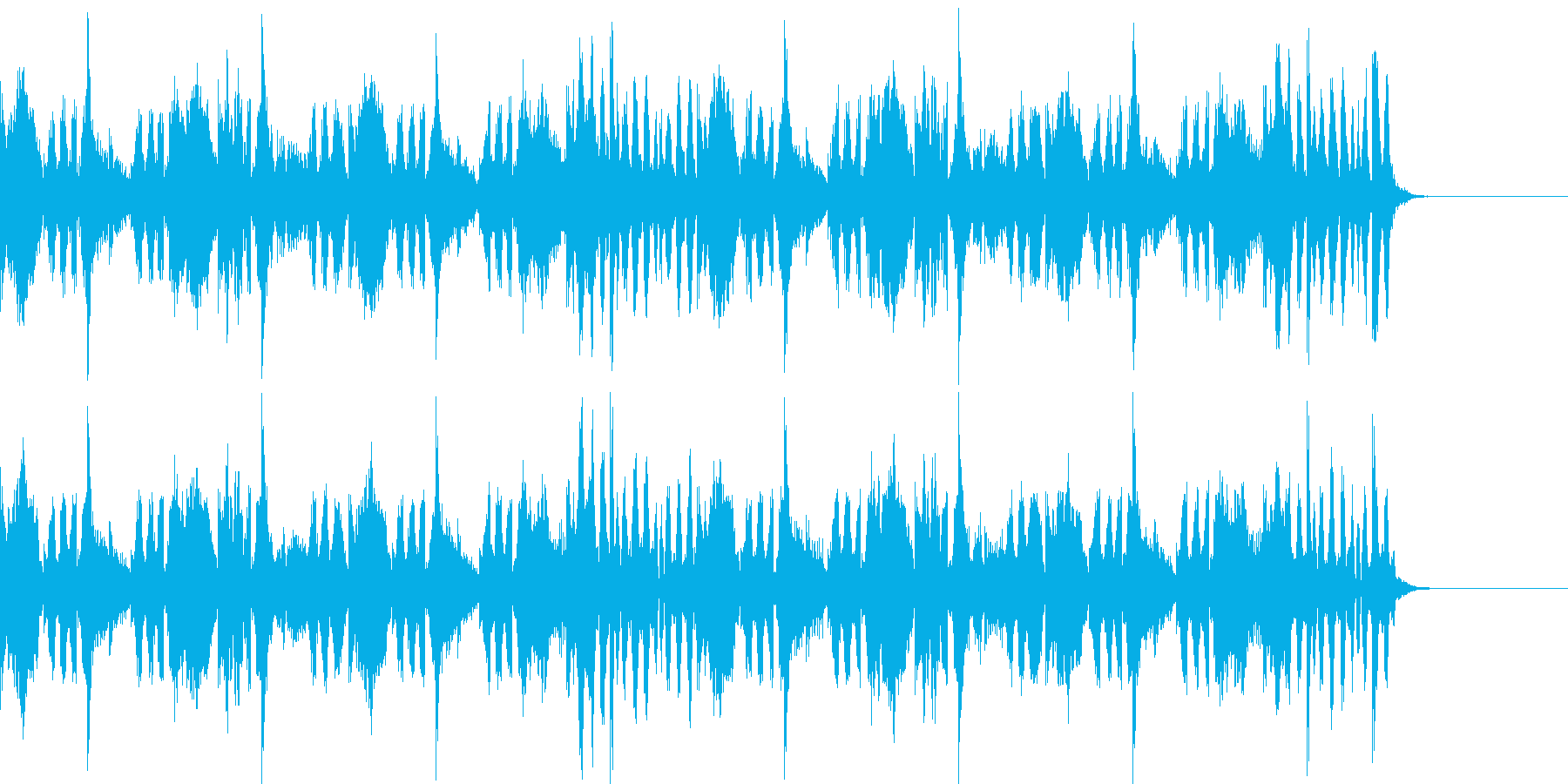 Dubstep風のジングルの再生済みの波形