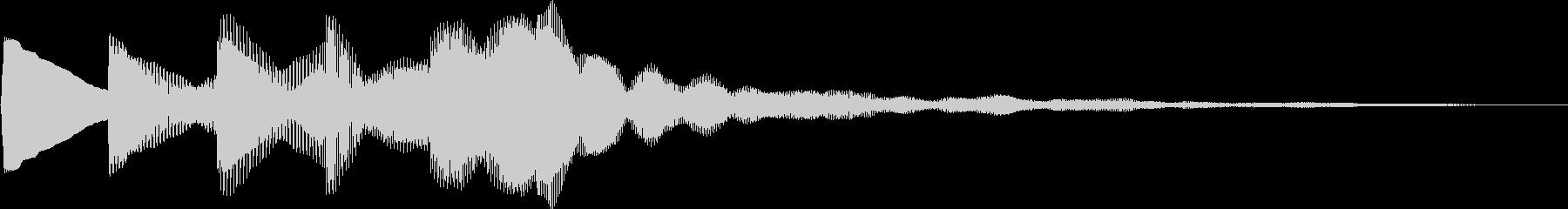 キラキラ(かわいい 登場 回復魔法)の未再生の波形