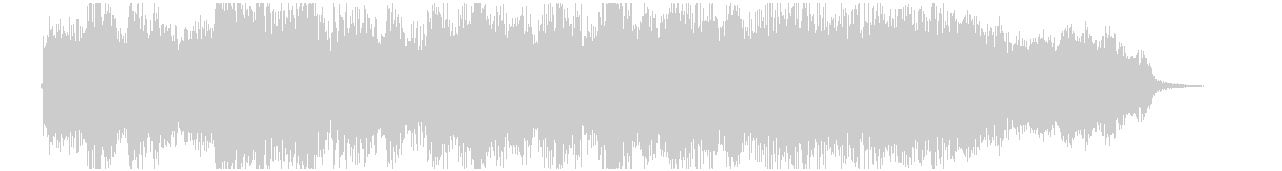 ゲームオーバーで流れるBGMの未再生の波形