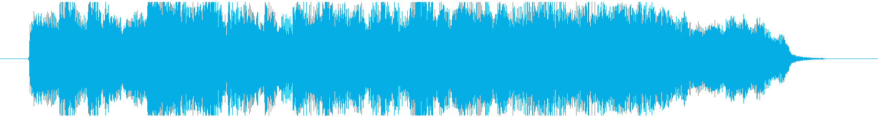 ゲームオーバーで流れるBGMの再生済みの波形