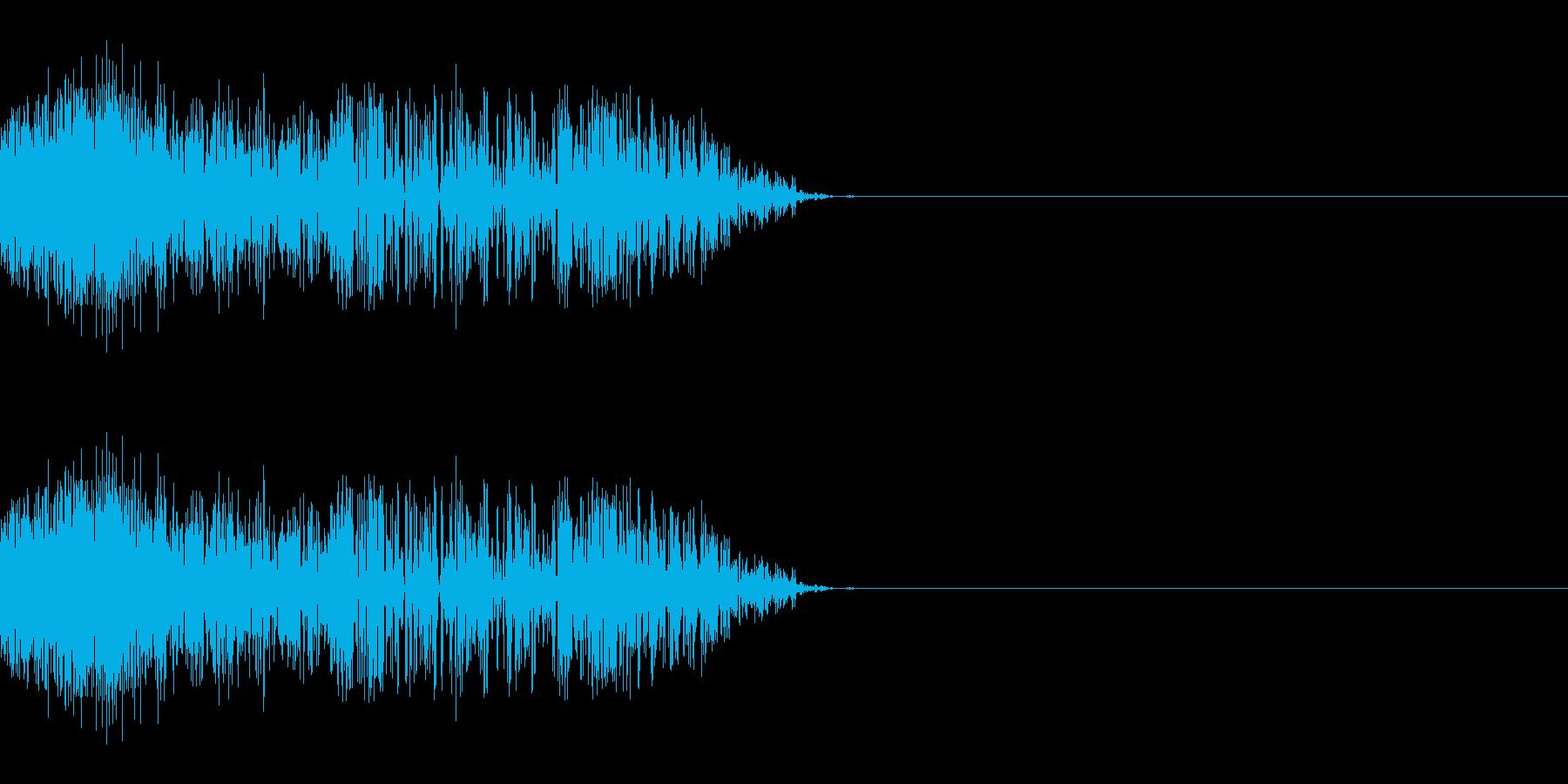 シュッ(スライディング/滑る/ひっかく)の再生済みの波形