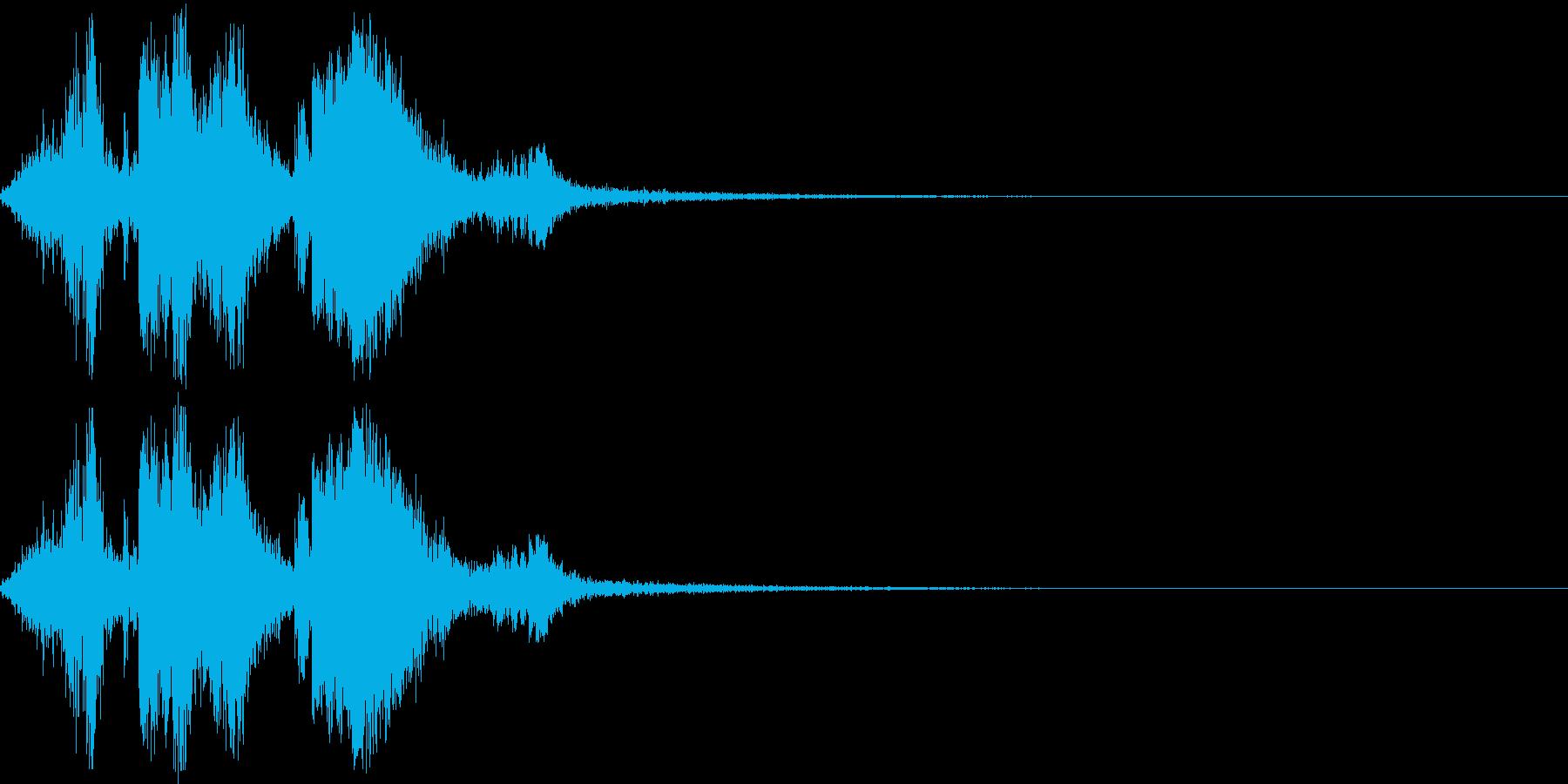 銃弾をロードする際の音の再生済みの波形