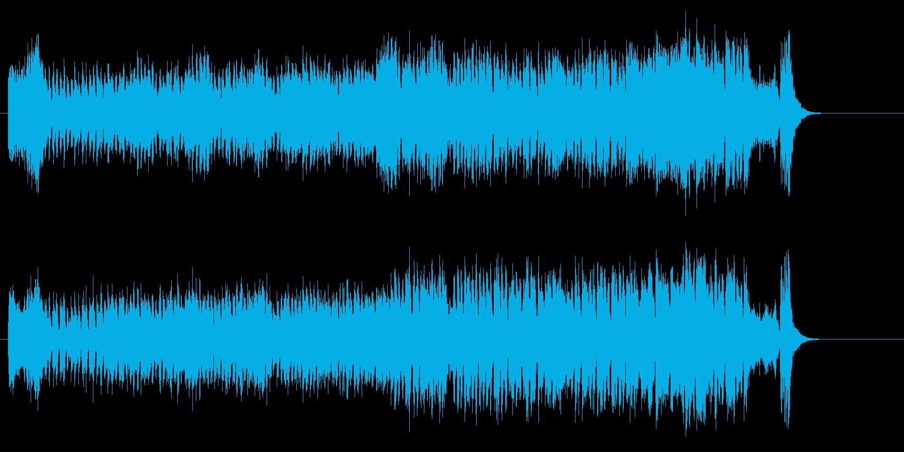 華やかなショウ・タイムのオーケストラ風の再生済みの波形