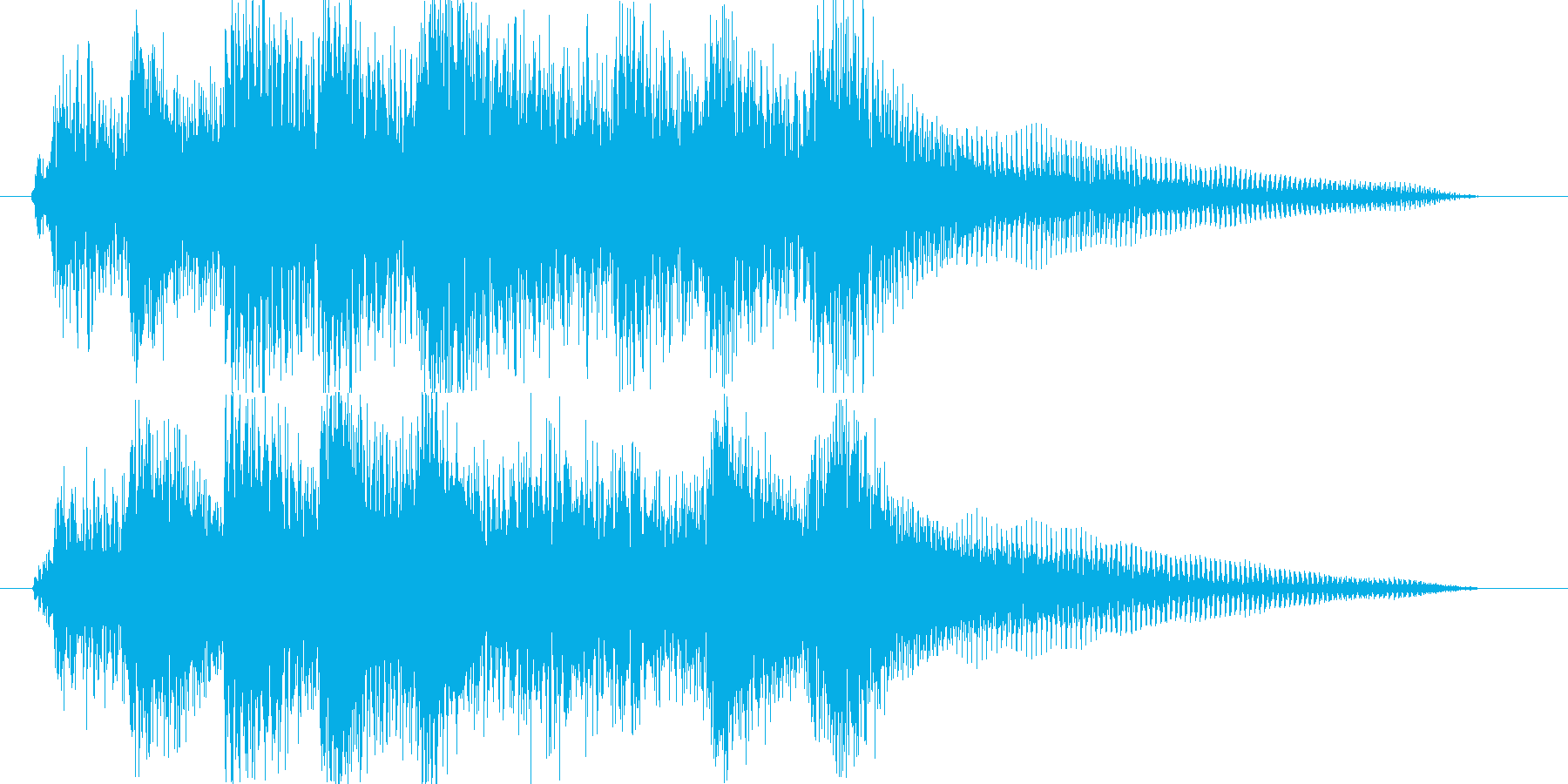 ピアノ出囃子ジングルゆったりめの再生済みの波形
