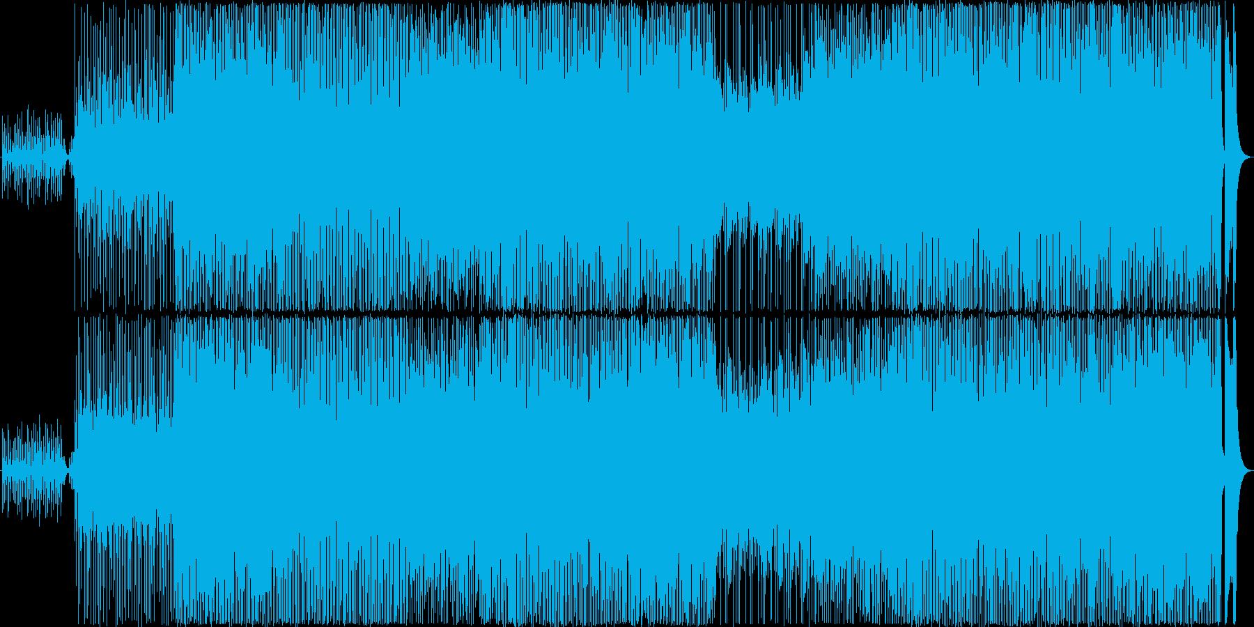 明るいほのぼのアップテンポなカントリー風の再生済みの波形