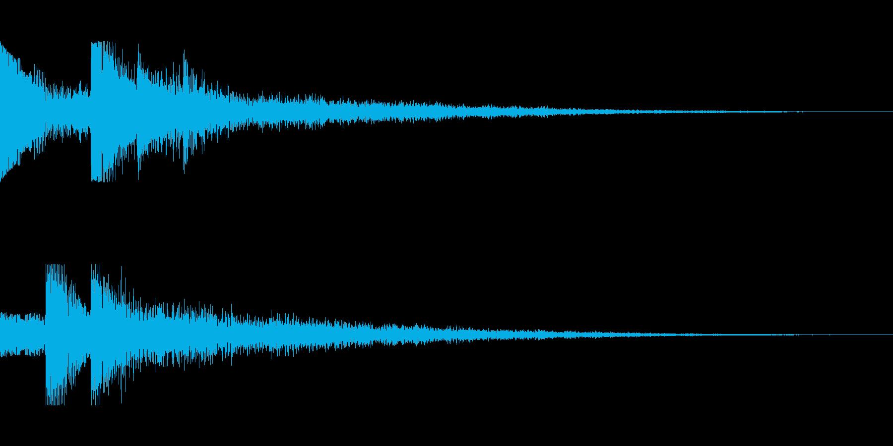 [ピロリン]スキル獲得(可愛く軽やか)の再生済みの波形