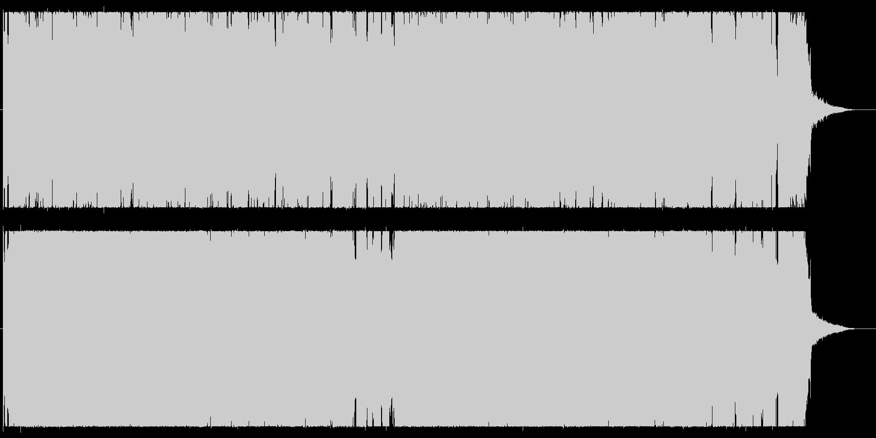 ギターポップパンク。シンセ入りの未再生の波形