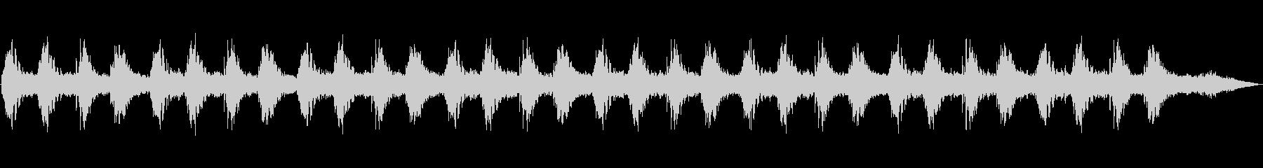 幻想的なアンビエントの未再生の波形